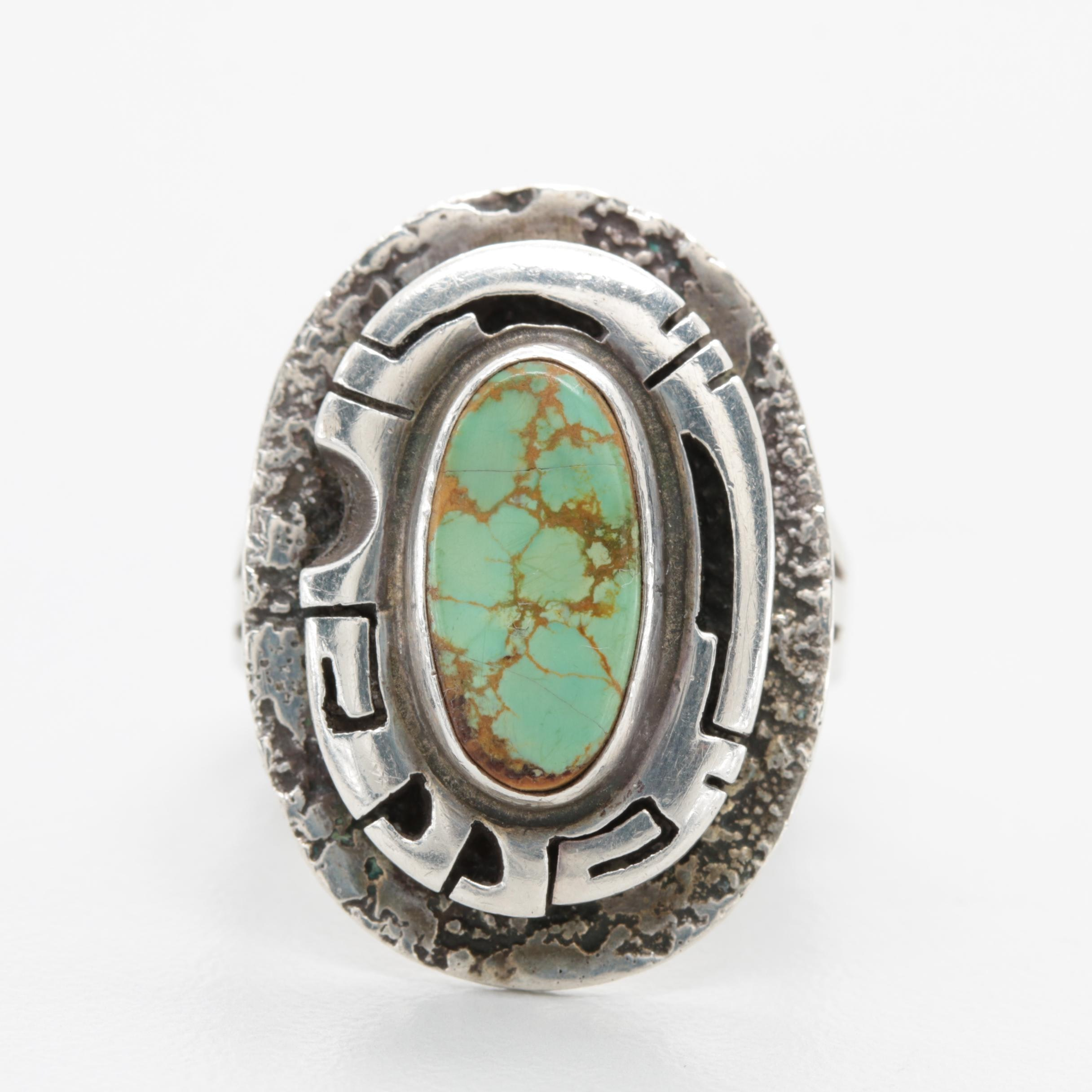 Jerry N Platero Navajo Diné Sterling Silver Turquoise Ring
