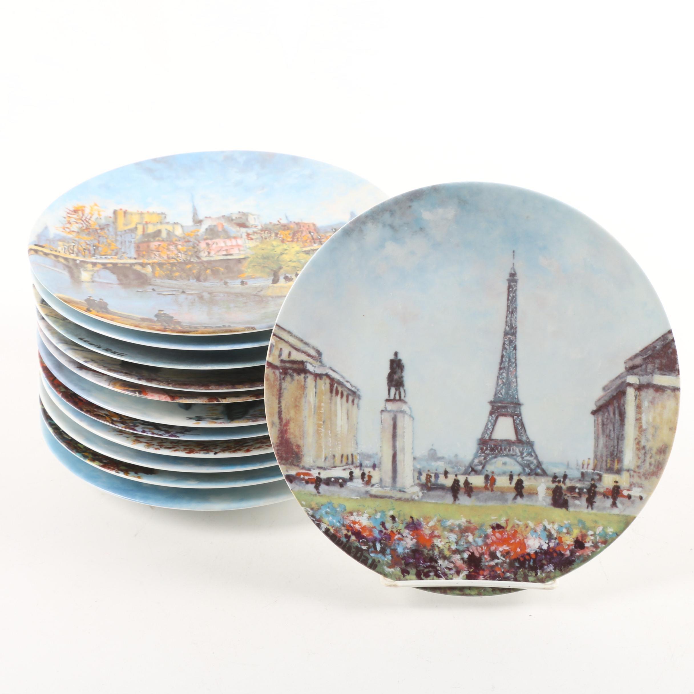 """D'Arceau-Limoges """"Les Douze Sites Parisiens de Louis Dali"""" Collector Plates"""