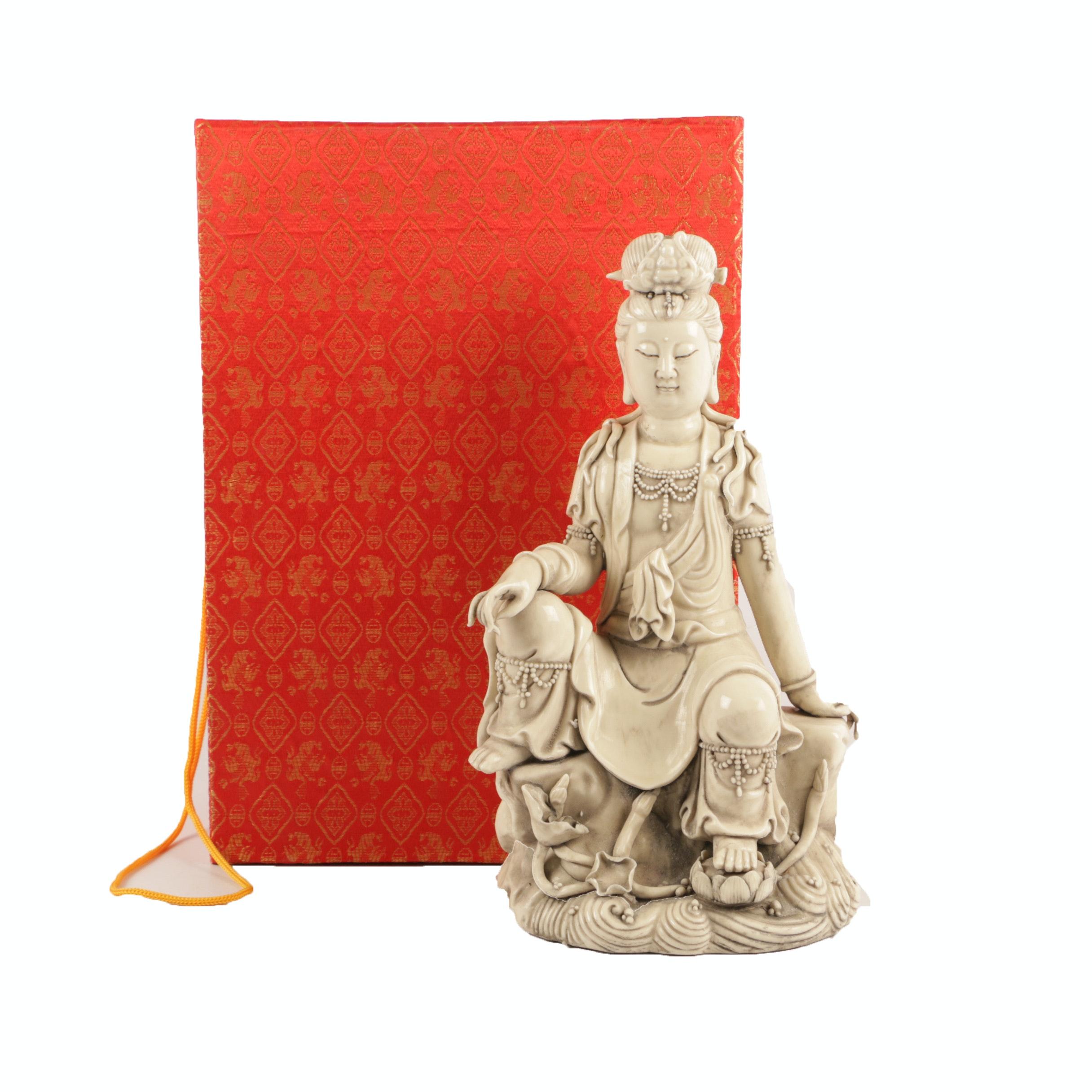Chinese Guanyin Ceramic Figurine