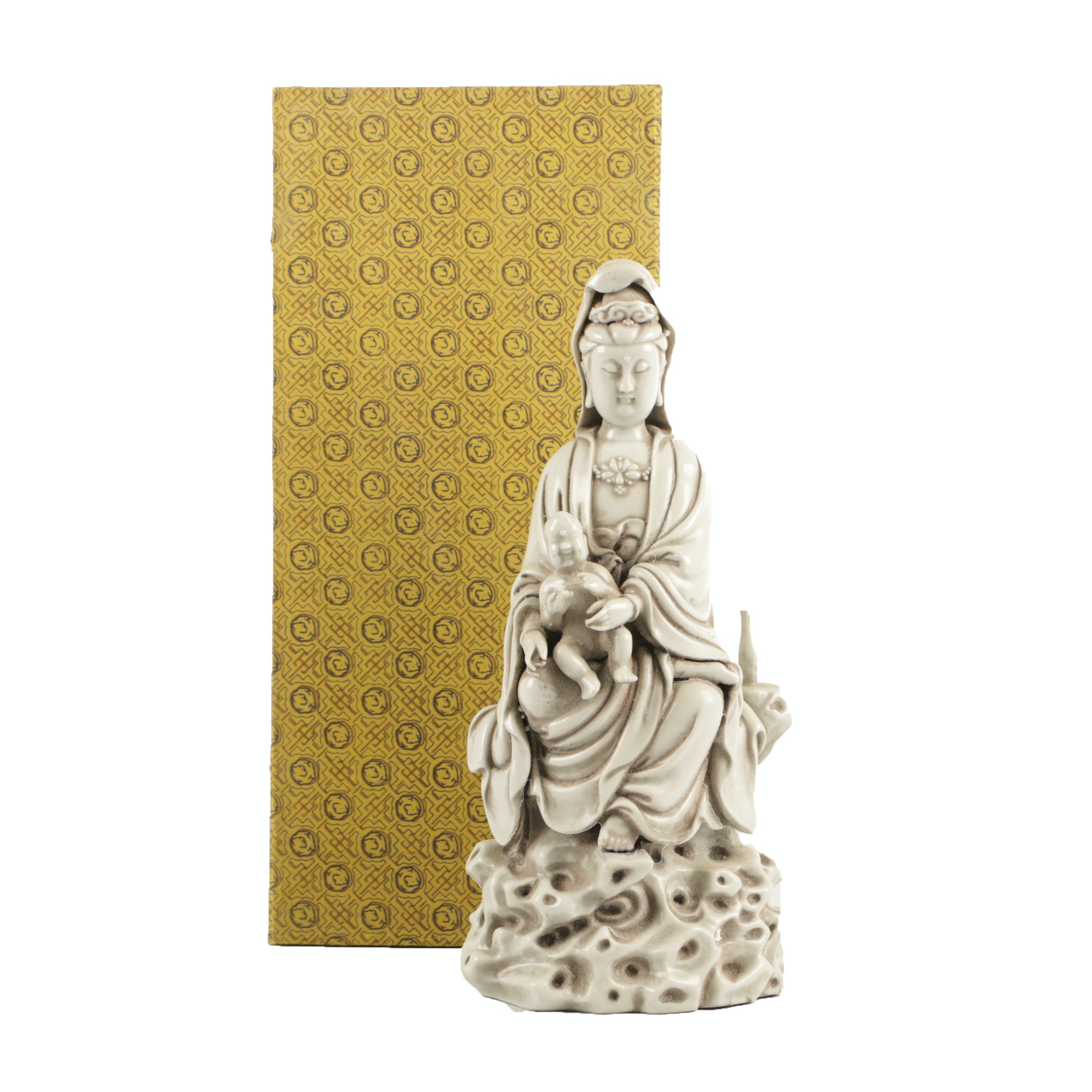 Chinese Seated Guanyin Porcelain Statue