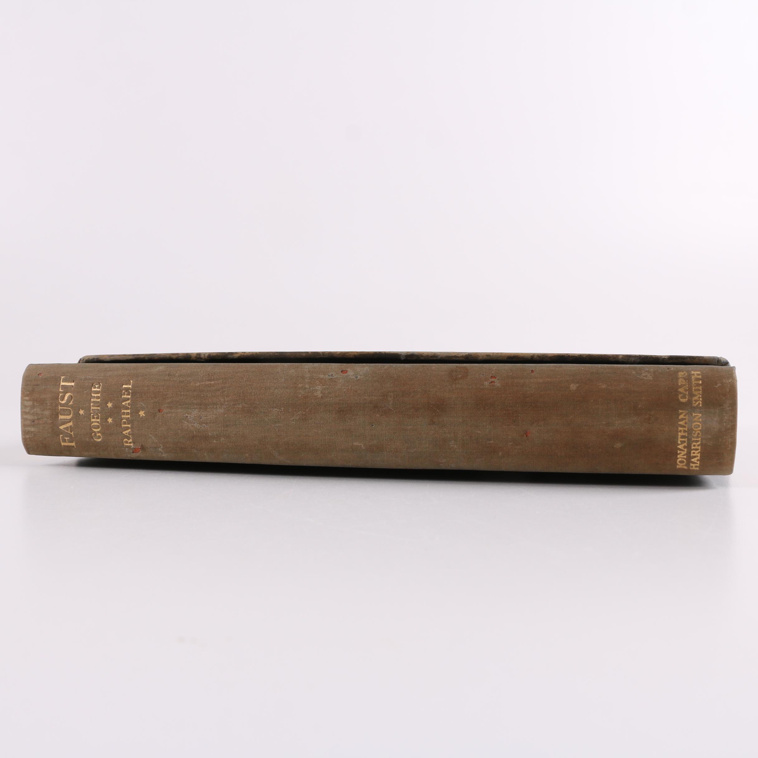 "1930 Translator-Signed ""Faust: A Tragedy"" by Johann Wolfgang von Goethe"