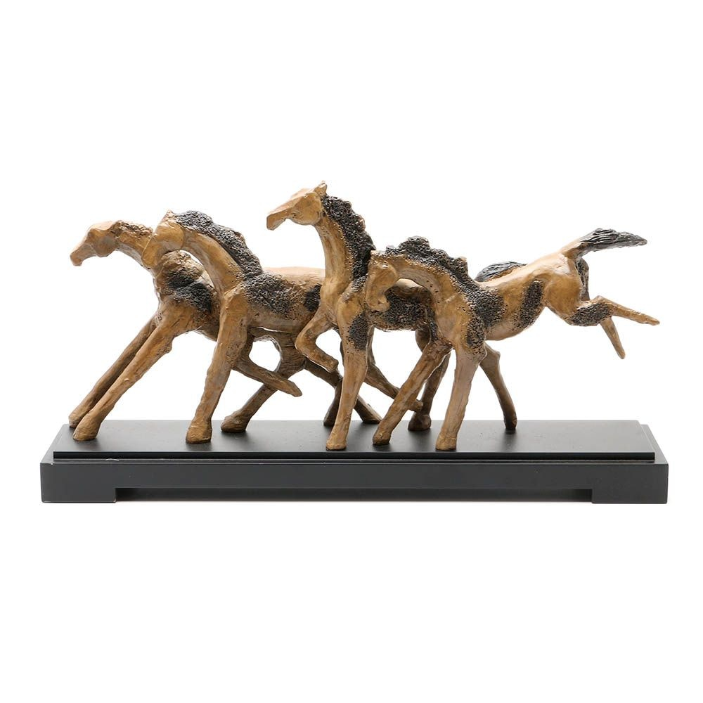"Carolyn Kinder ""Wild Horses"" Resin Sculpture"