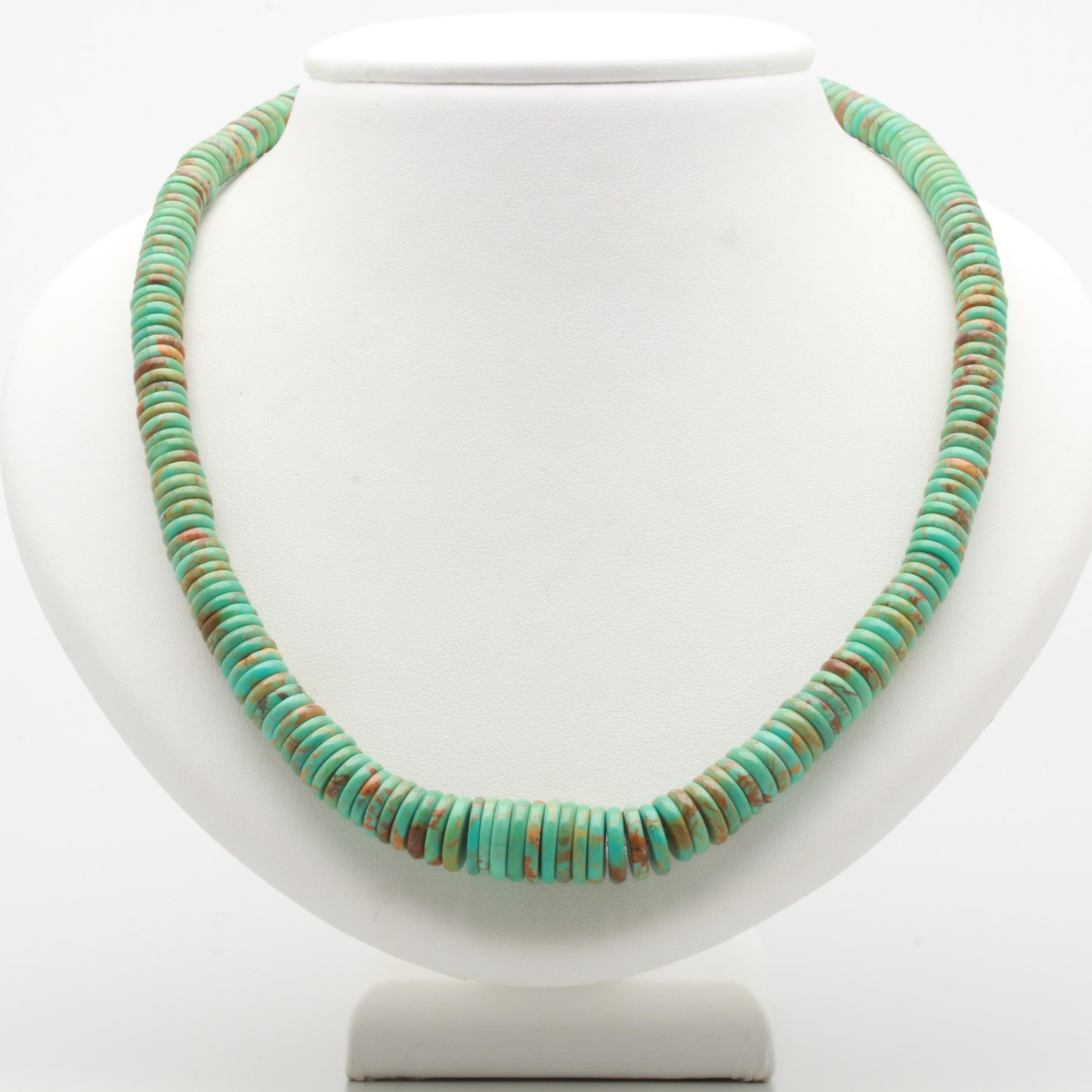 Sterling Silver Turquoise Beaded Necklace