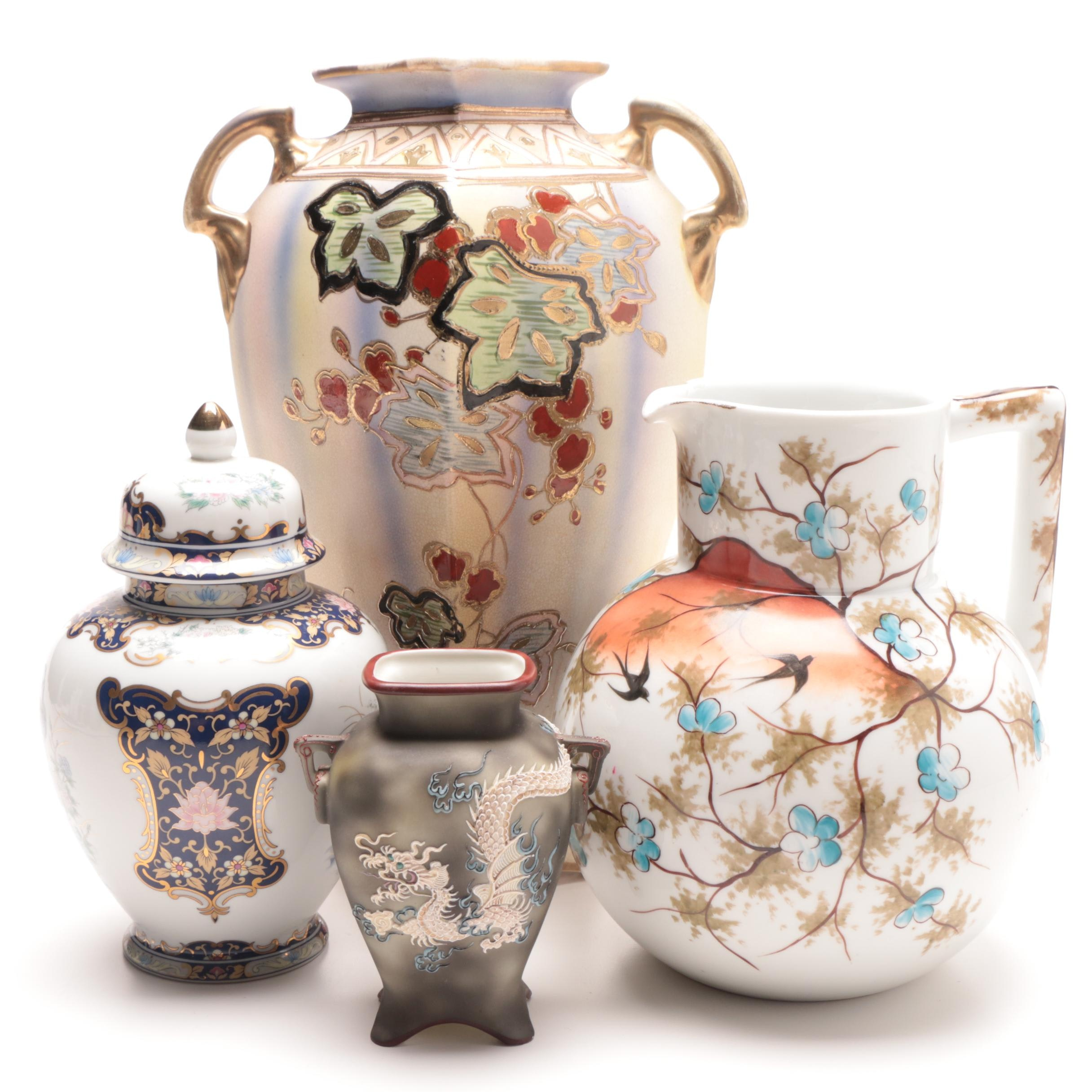 Group of Ceramic Vases and Decor