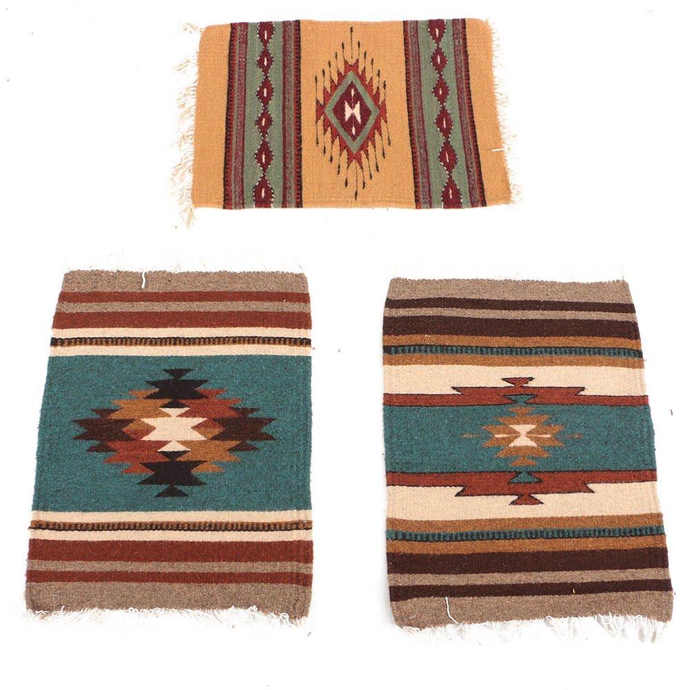Handwoven Mexican Zapotec Wool Mats for Ellenbecker Trading Co.