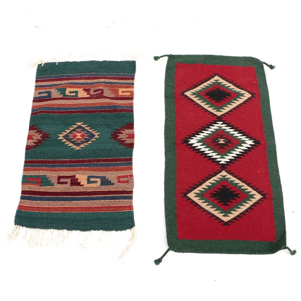 Handwoven Mexican and Indian Accent Rugs including El Paso Saddle Blanket Co.