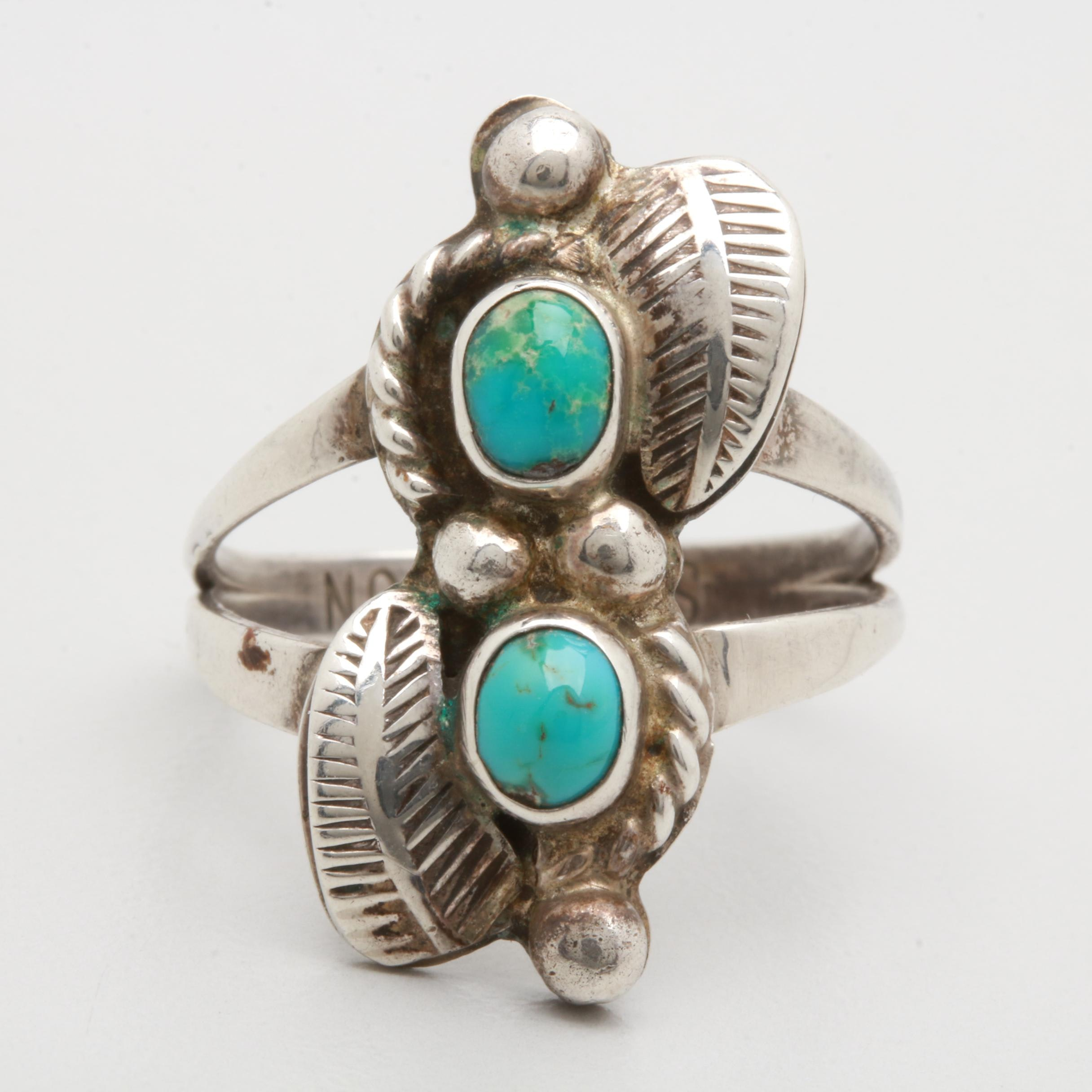 Sarah Watson Navajo Diné Sterling Silver Turquoise Ring