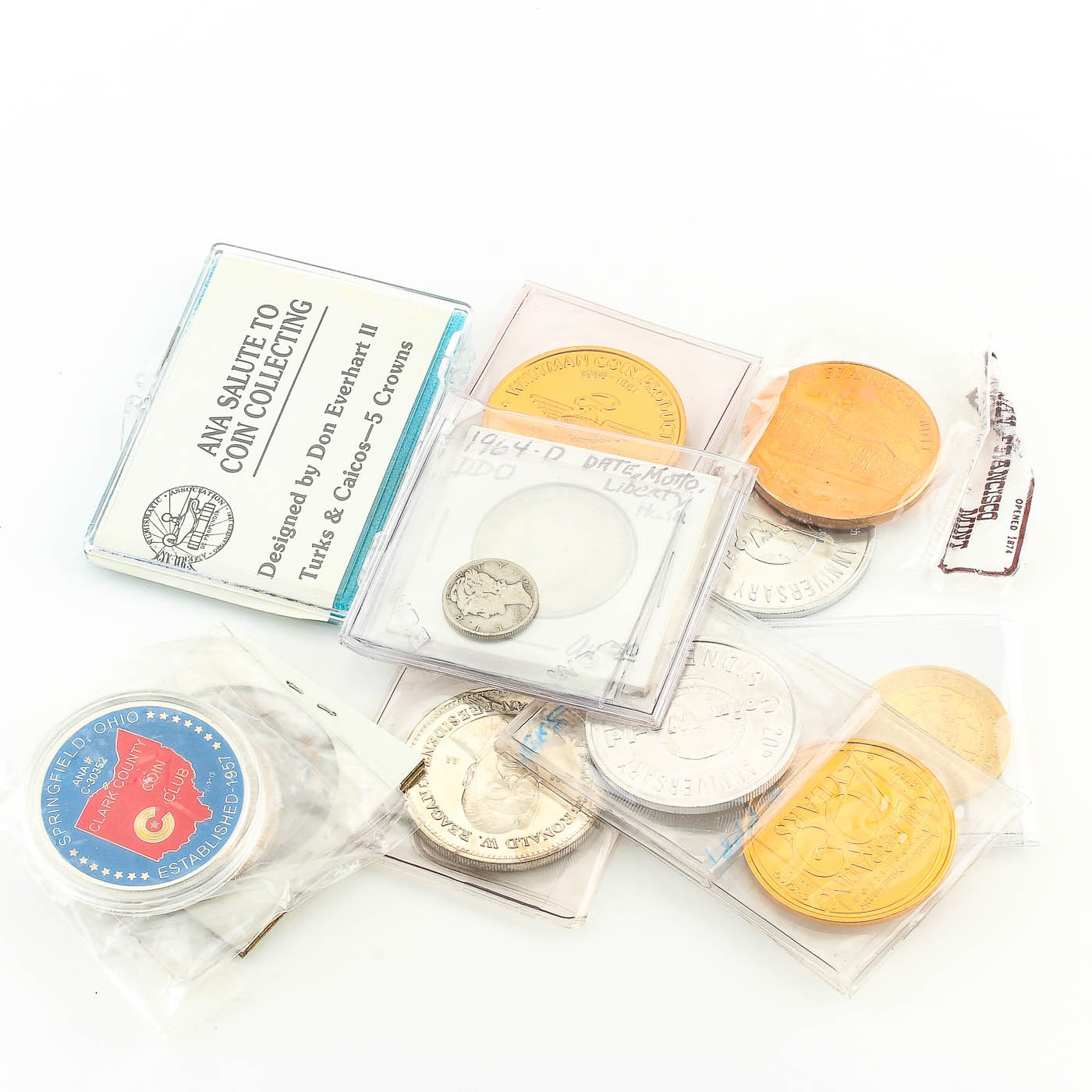 Eleven Tokens and Commemorative Coins