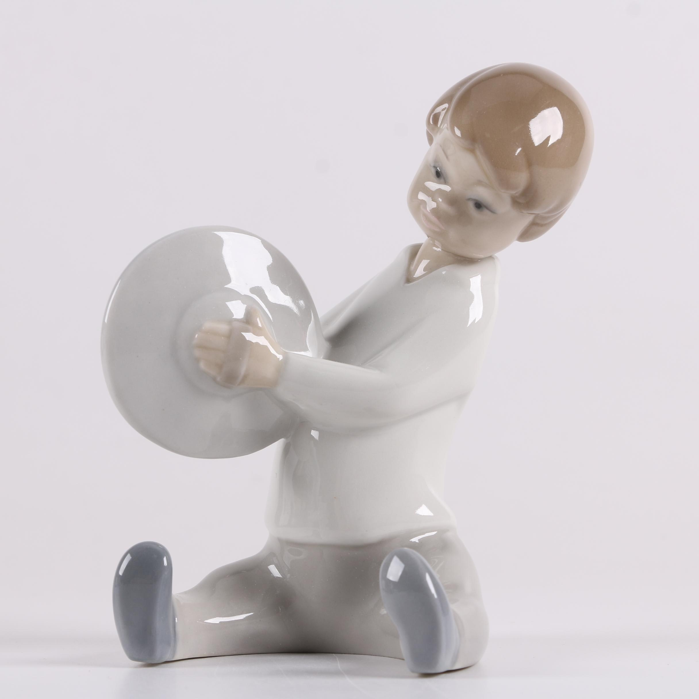 "Lladró ""Boy with Cymbals"" Porcelain Figurine"