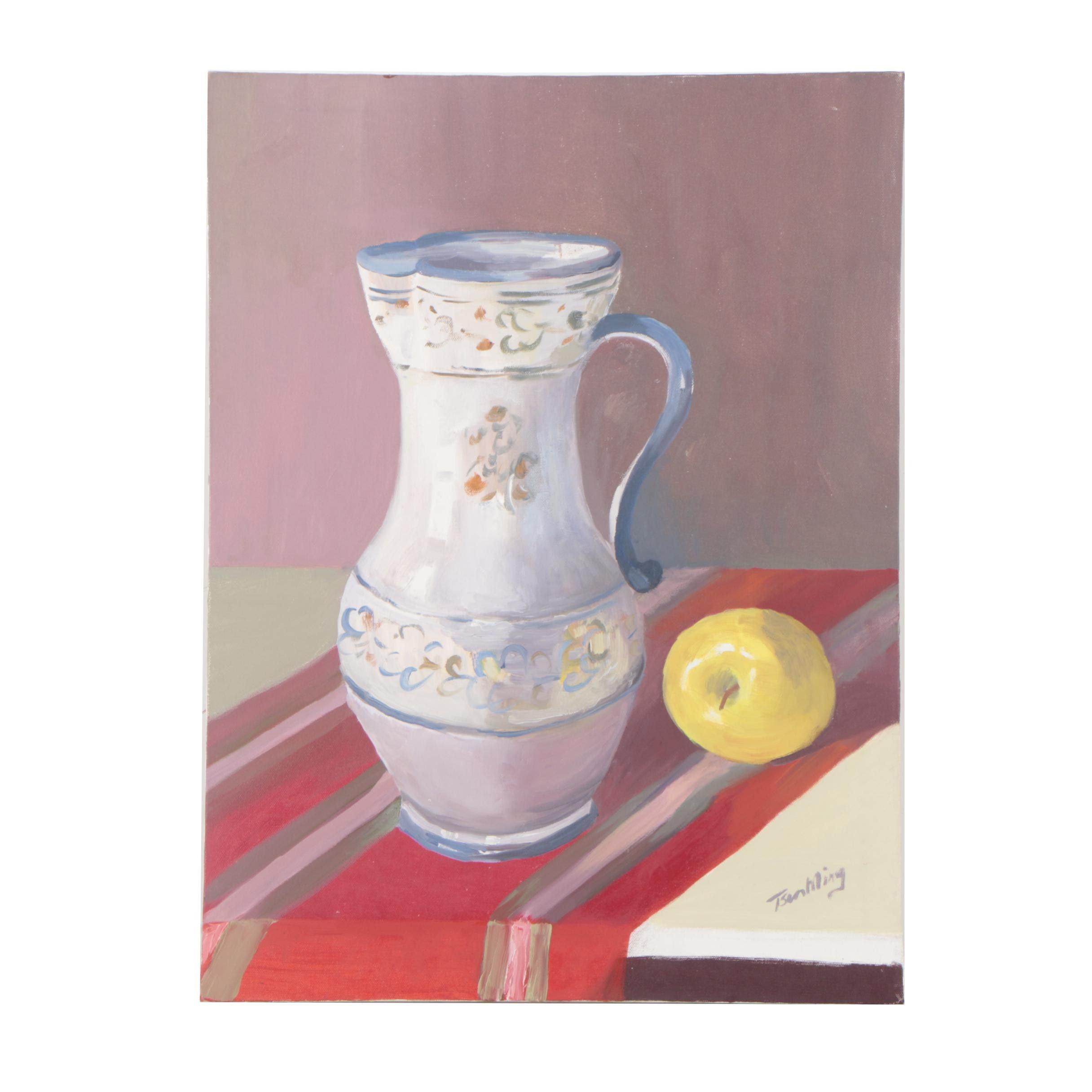 "Tsun Ming Chmielinski Acrylic Painting ""Still Life"""
