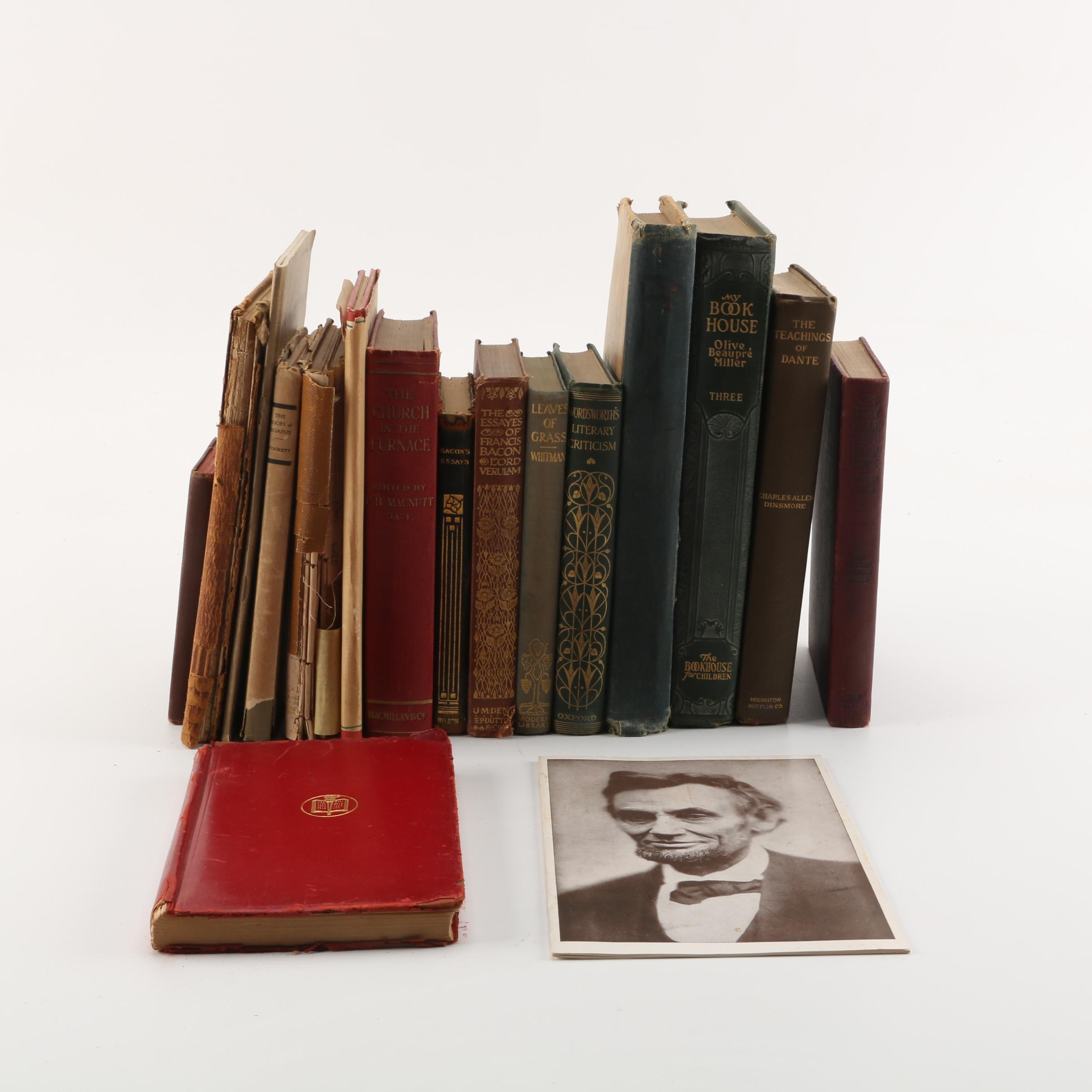 "Vintage and Antique Books, including Modern Library Edition of ""Leaves of Grass"""