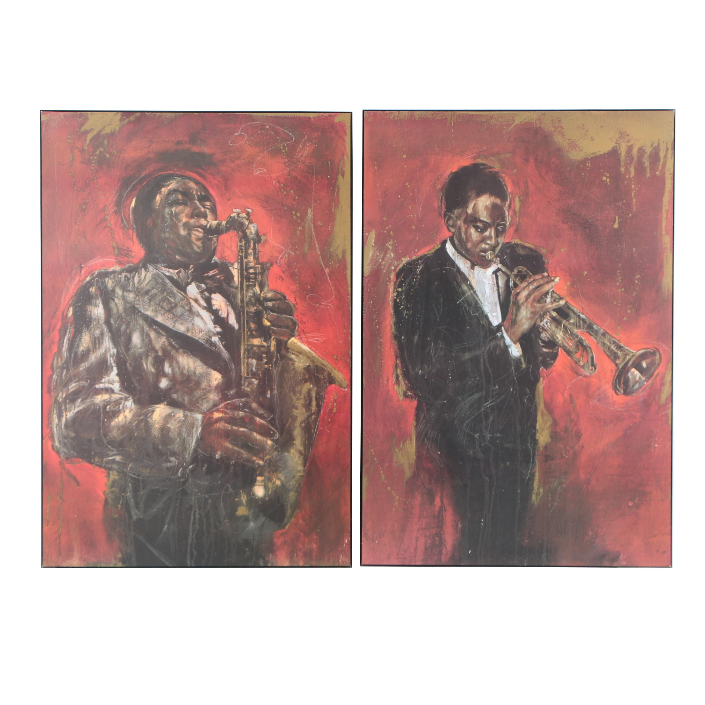 "Offset Lithographs after Elena ""Jazz I"" and ""Jazz II"""