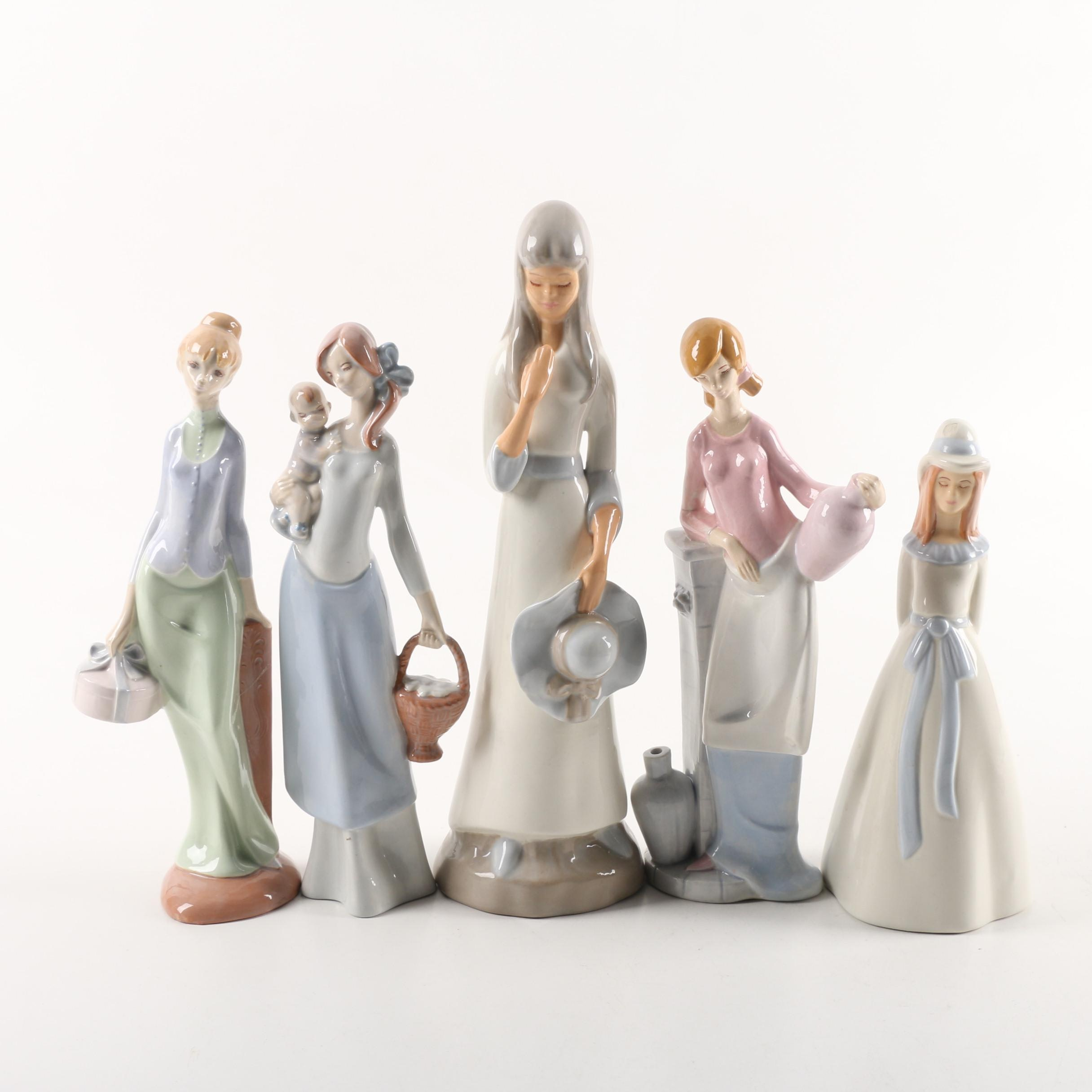 Ceramic Figurines Depicting Young Women