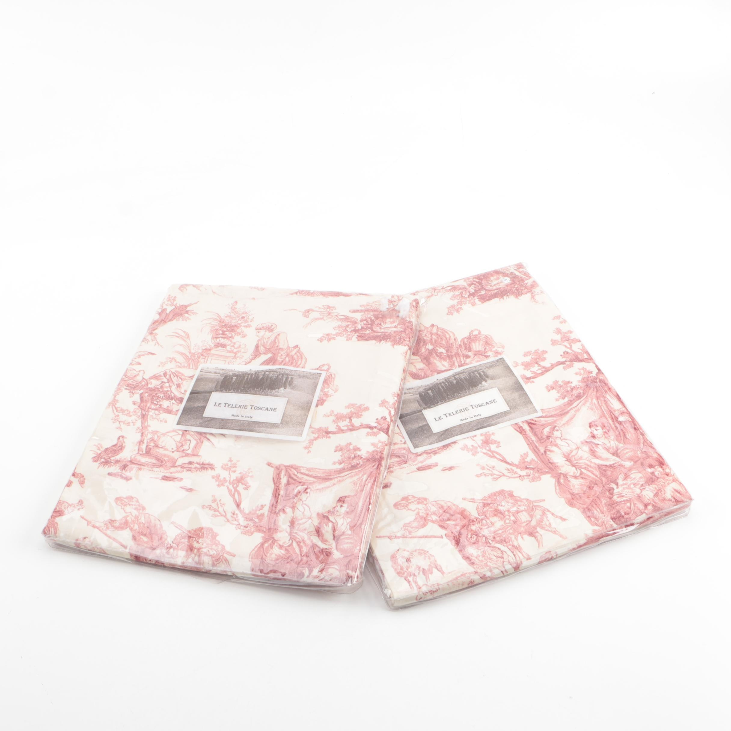 "Le Telerie Toscane ""Toile"" Printed Cotton Tablecloths"