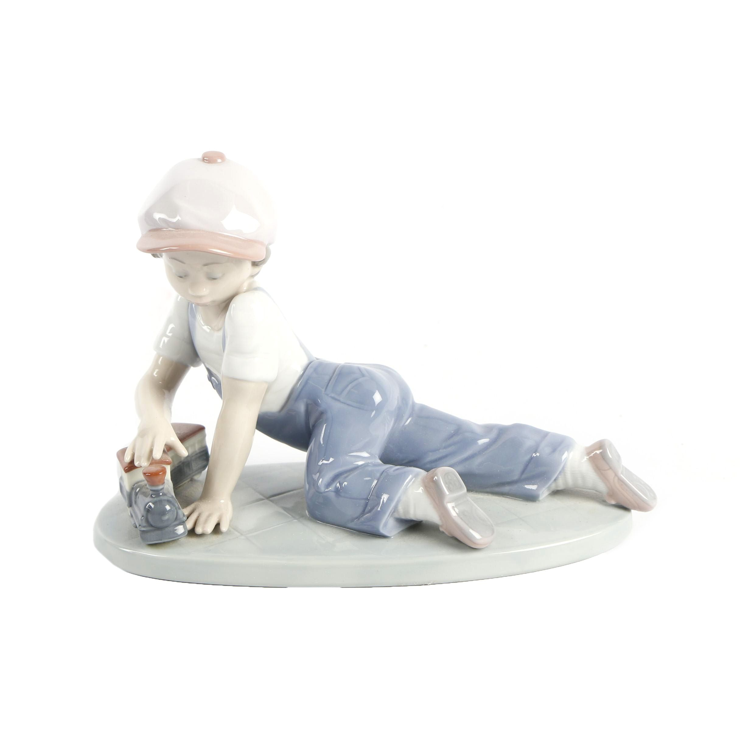 "Lladró Collector's Society ""All Aboard"" Porcelain Figurine #7619"