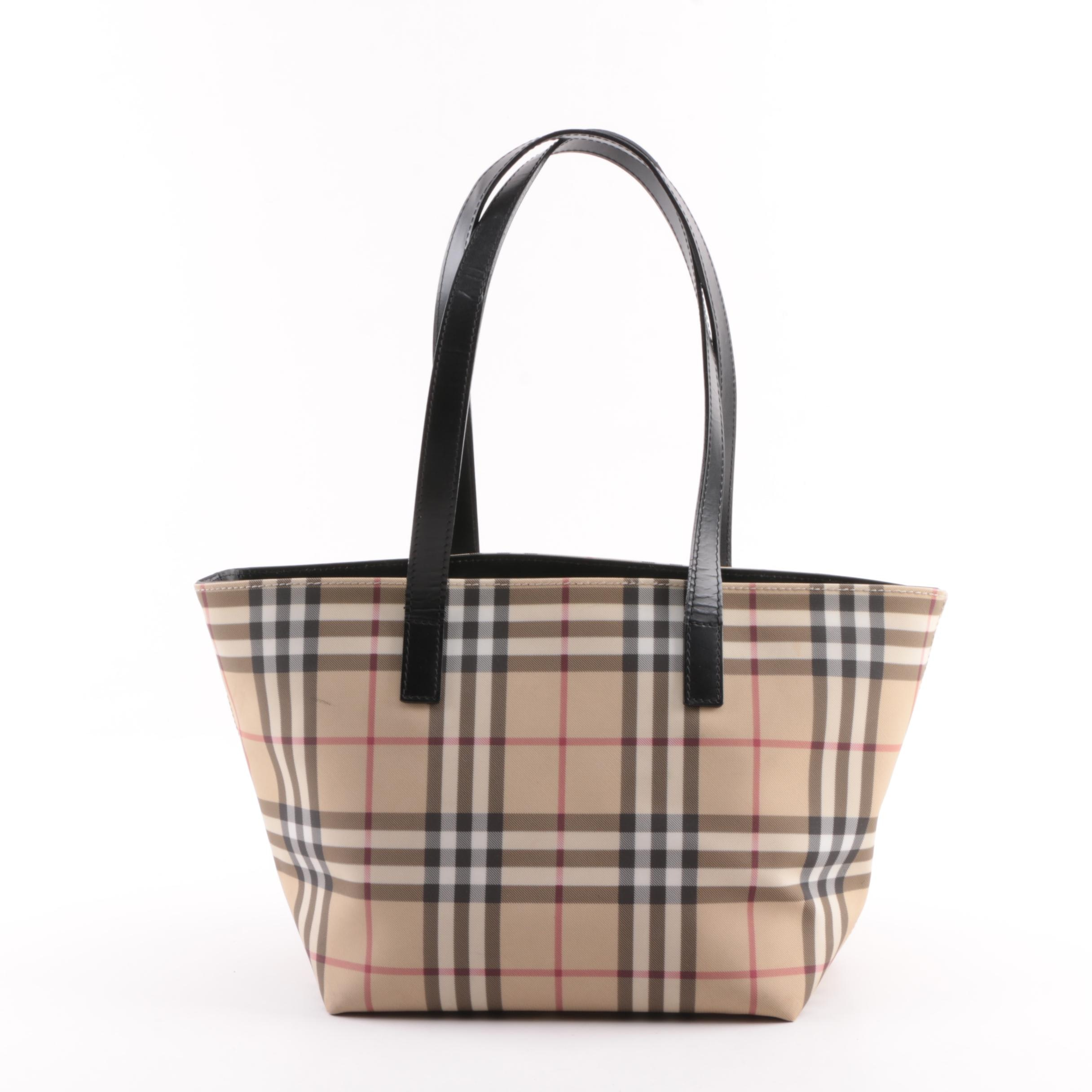 "Burberry London ""Nova Check"" Coated Canvas Tote"