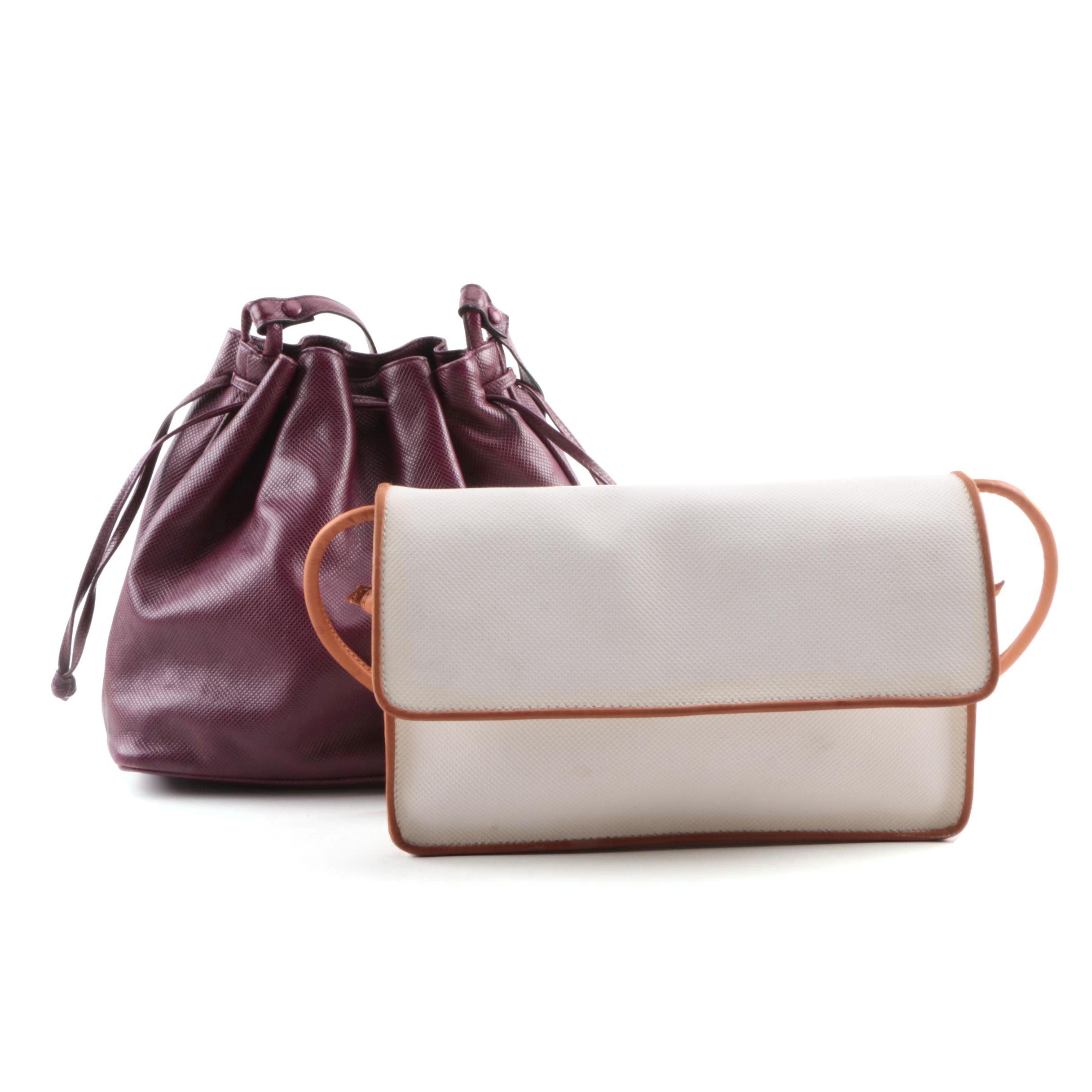 Bottega Veneta Coated Canvas and Leather Shoulder Bags