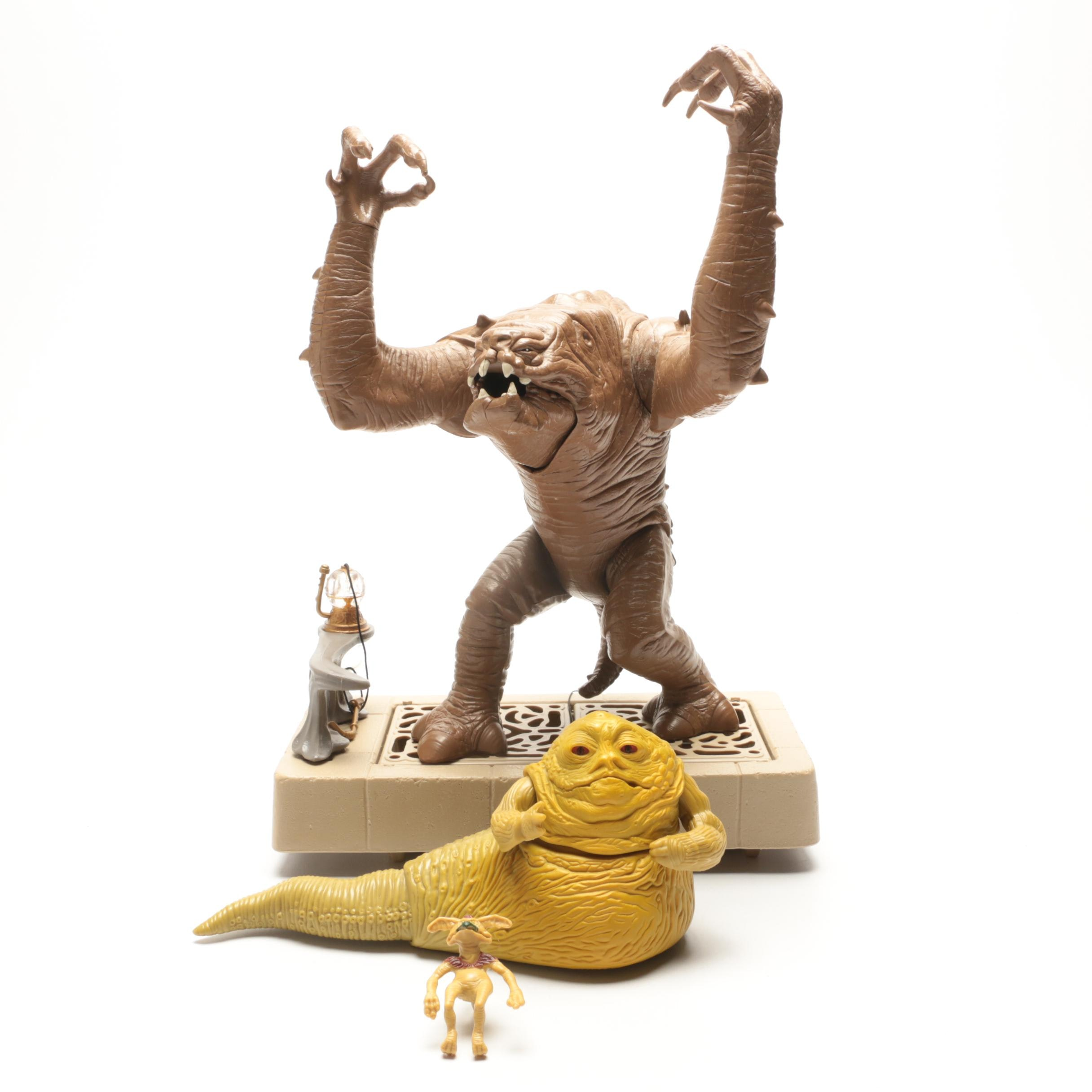 """Jabba The Hutt and Rancor Toys from """"The Empire Strikes Back"""" by Kenner"""