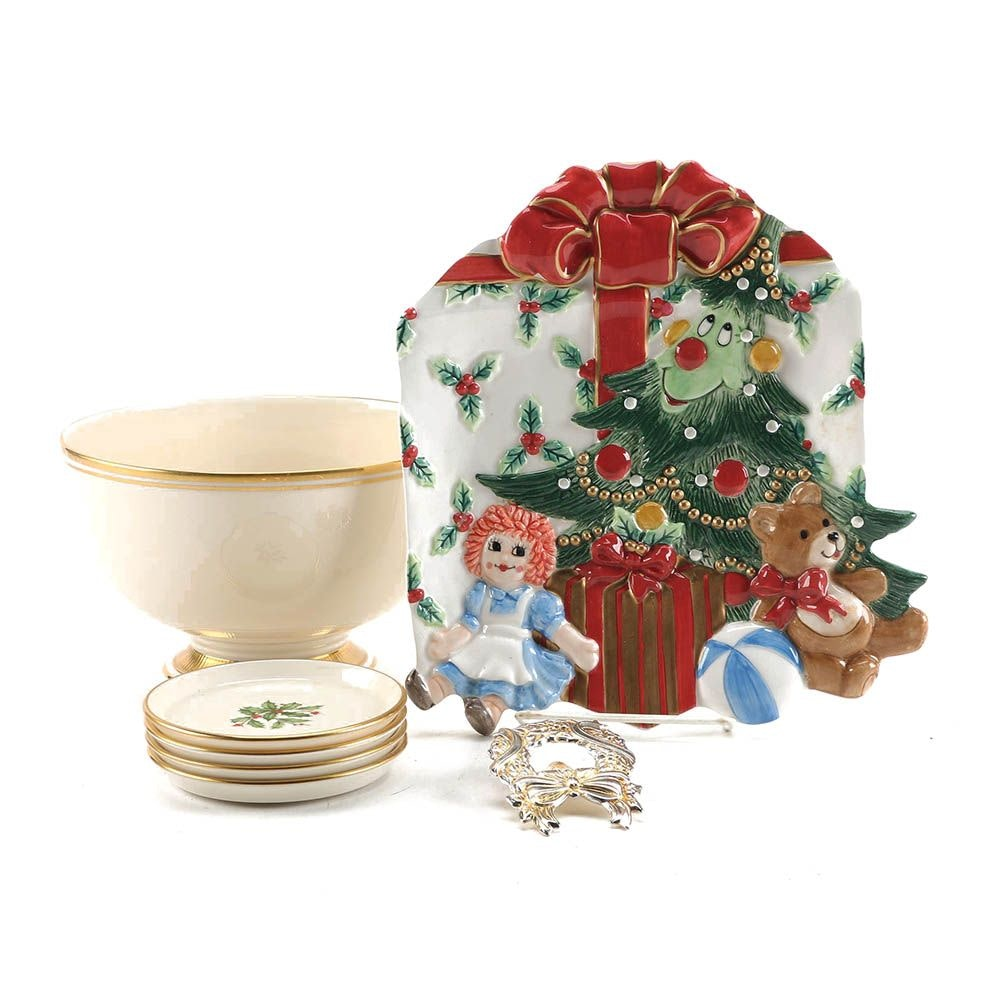 Christmas Serveware and Decor including Lenox