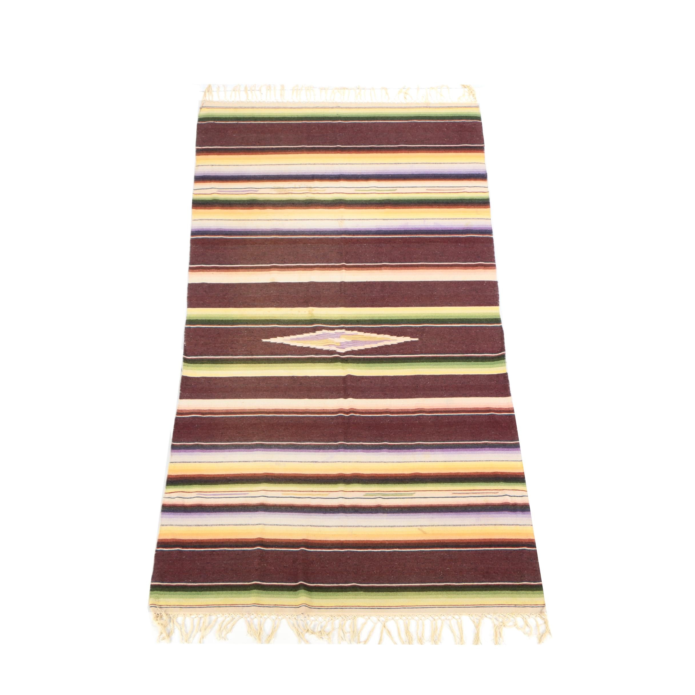 Handwoven Mexican Accent Rug