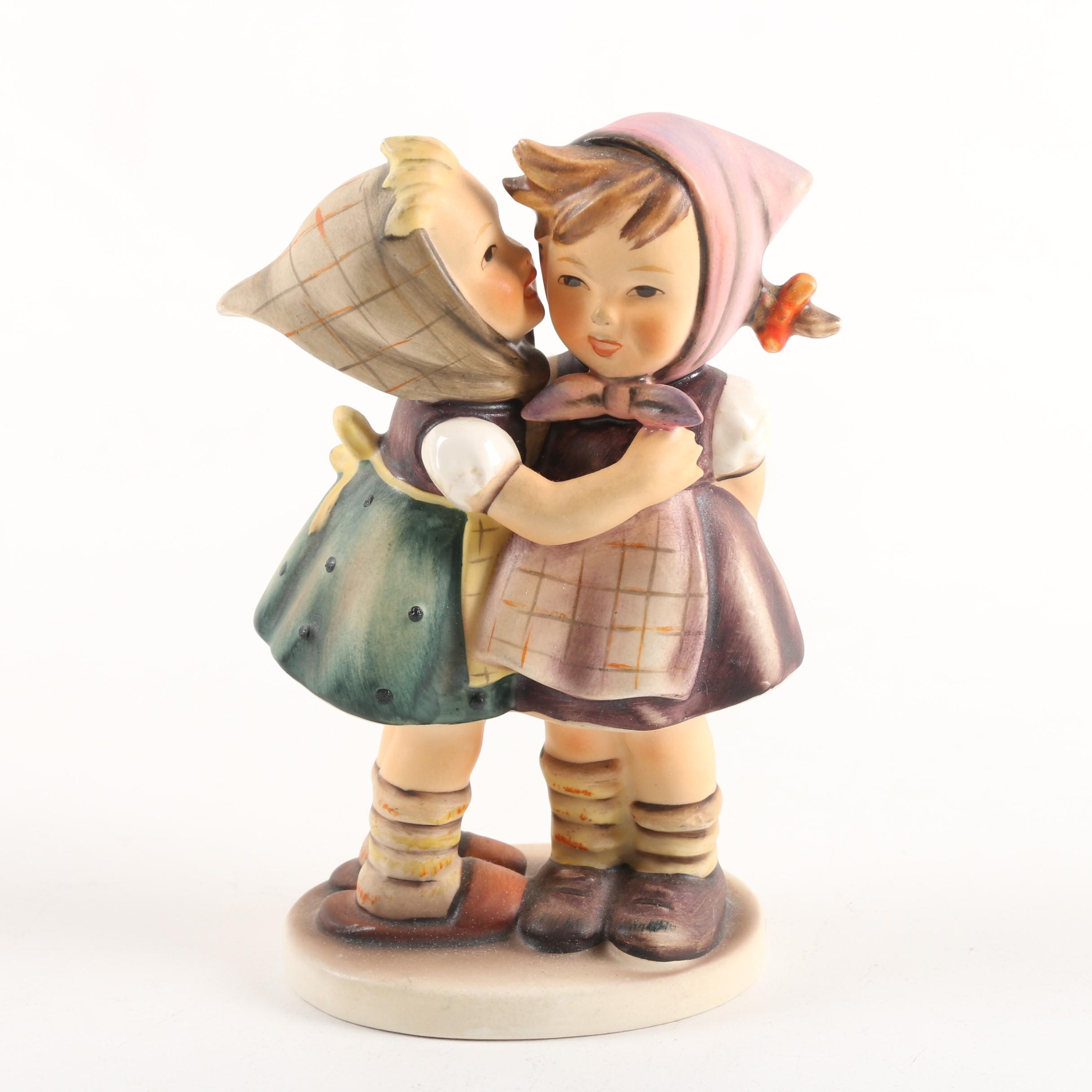 "Goebel Hummel ""Telling Her Secret"" Ceramic Figurine"