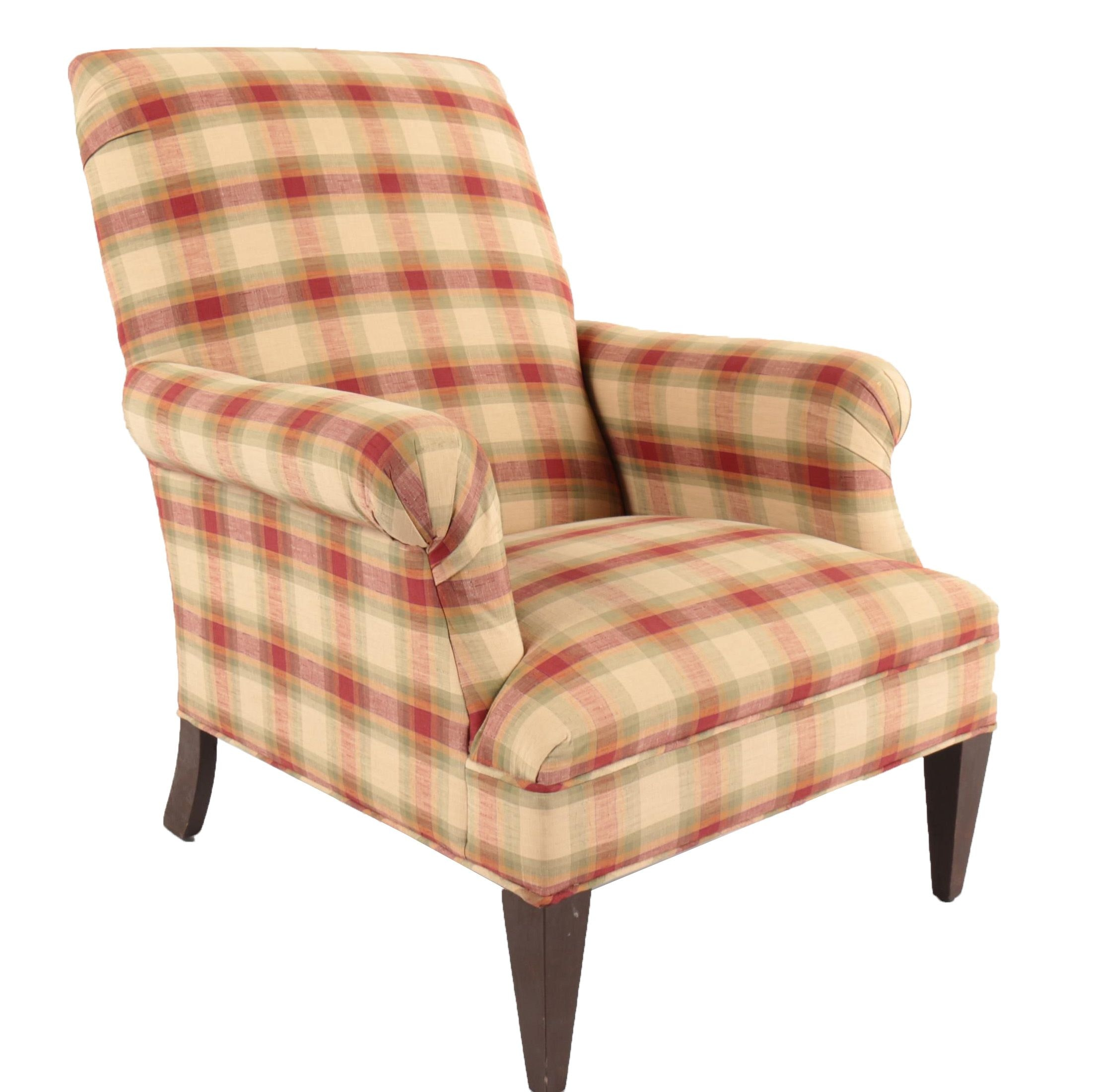 Contemporary Upholstered Armchair with Slipcover