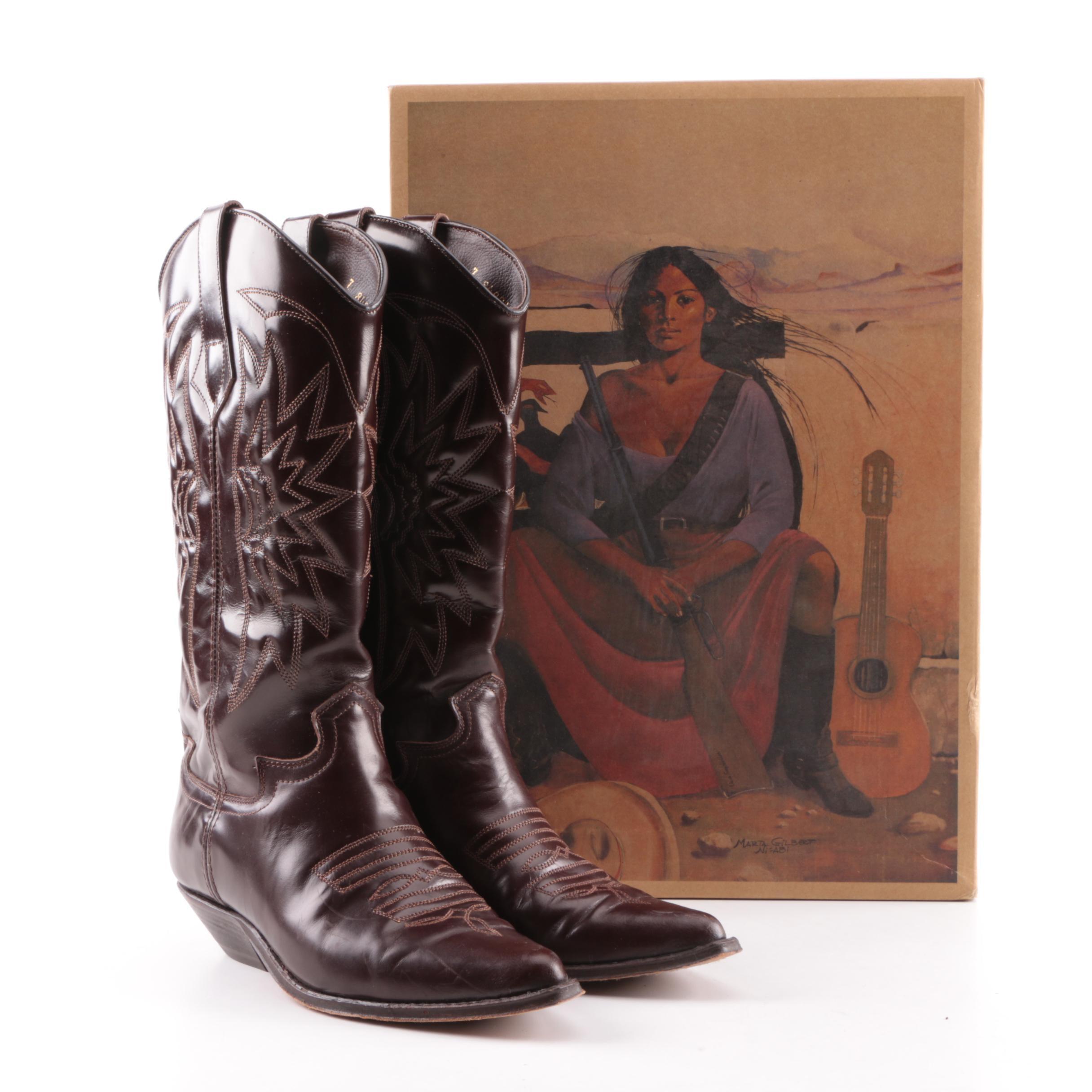 Women's Vintage Seychelles Dark Brown Leather Western Boots