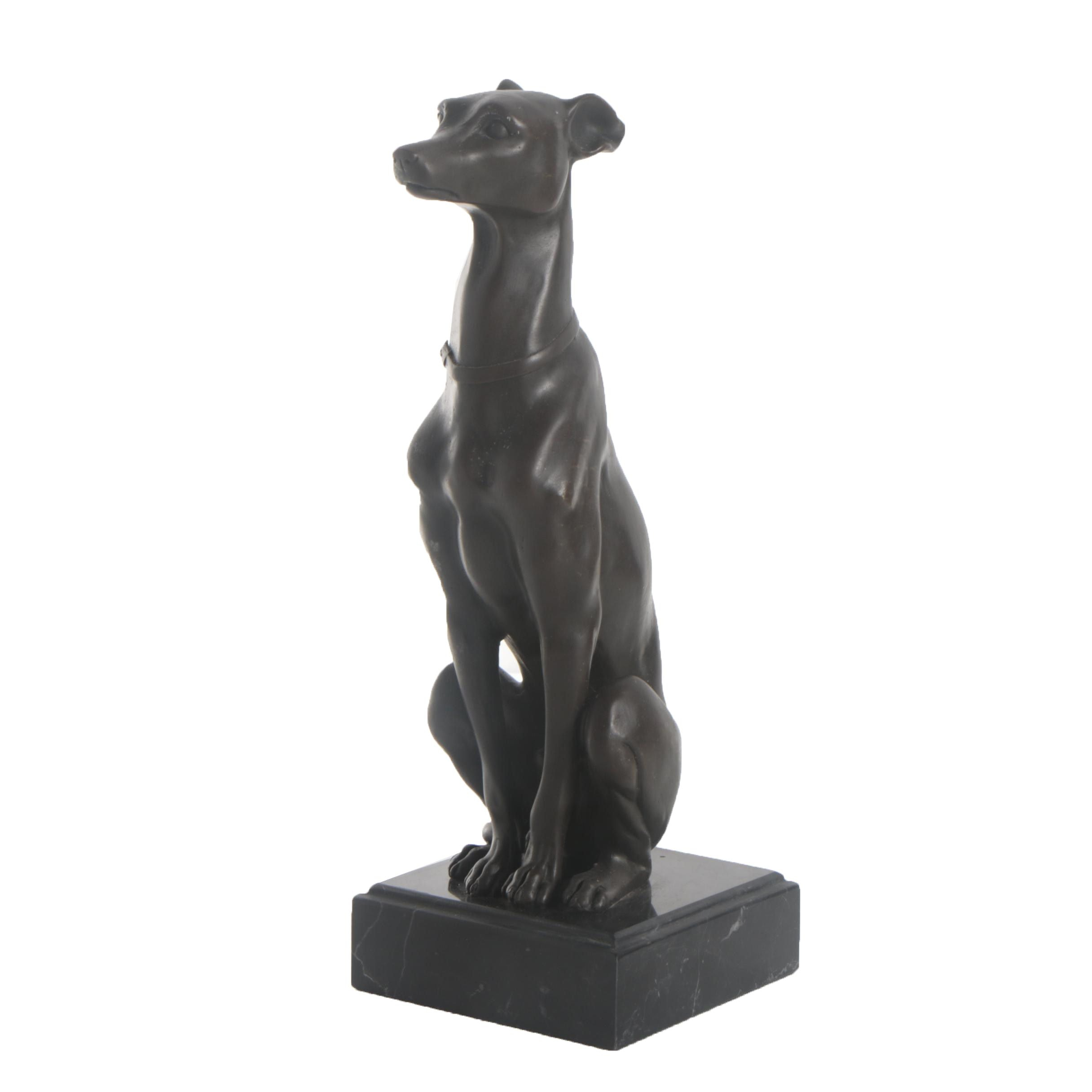 Cold Cast Bronze Greyhound Sculpture after Antoine-Louis Barye