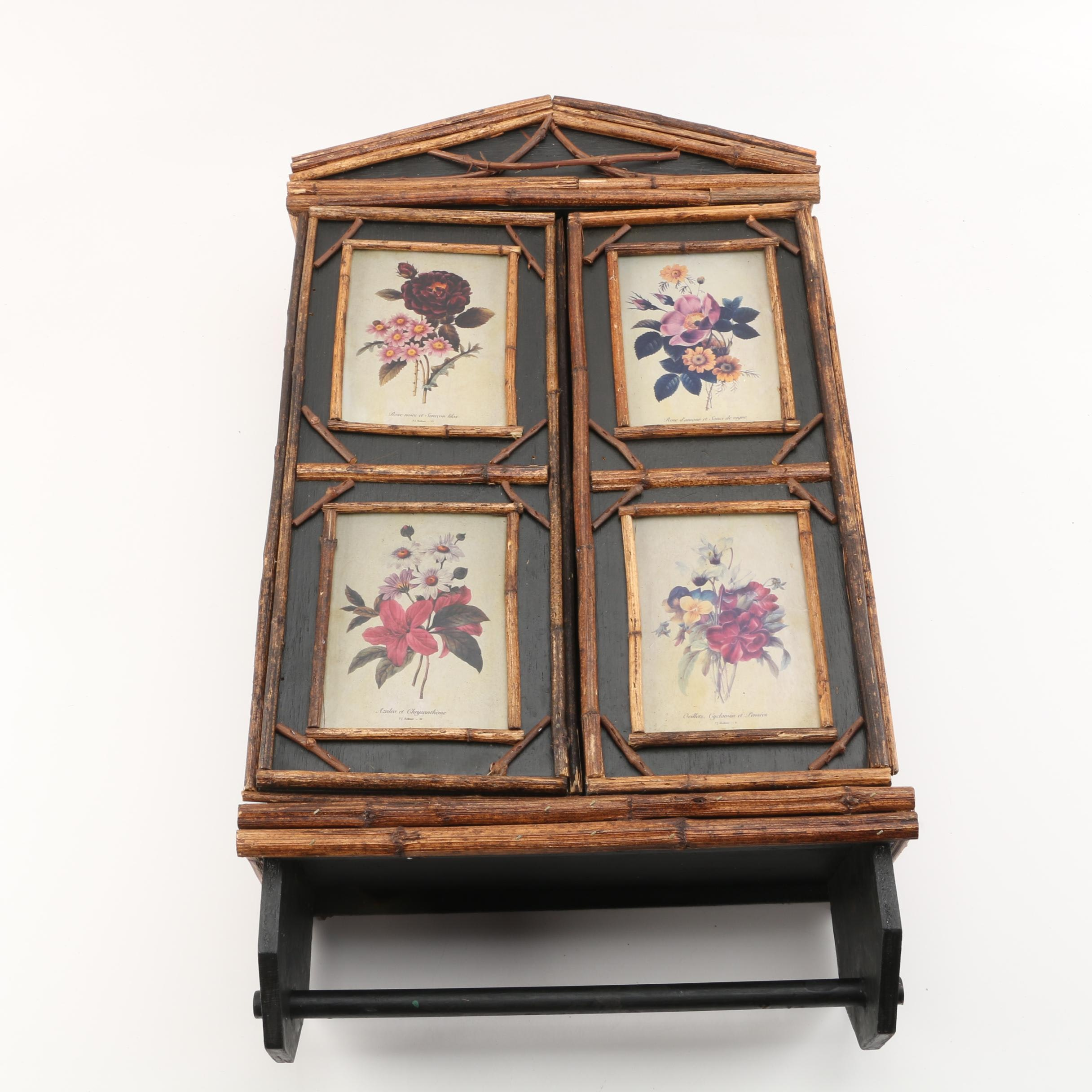 Hanging Cabinet with Twig and Flower Theme