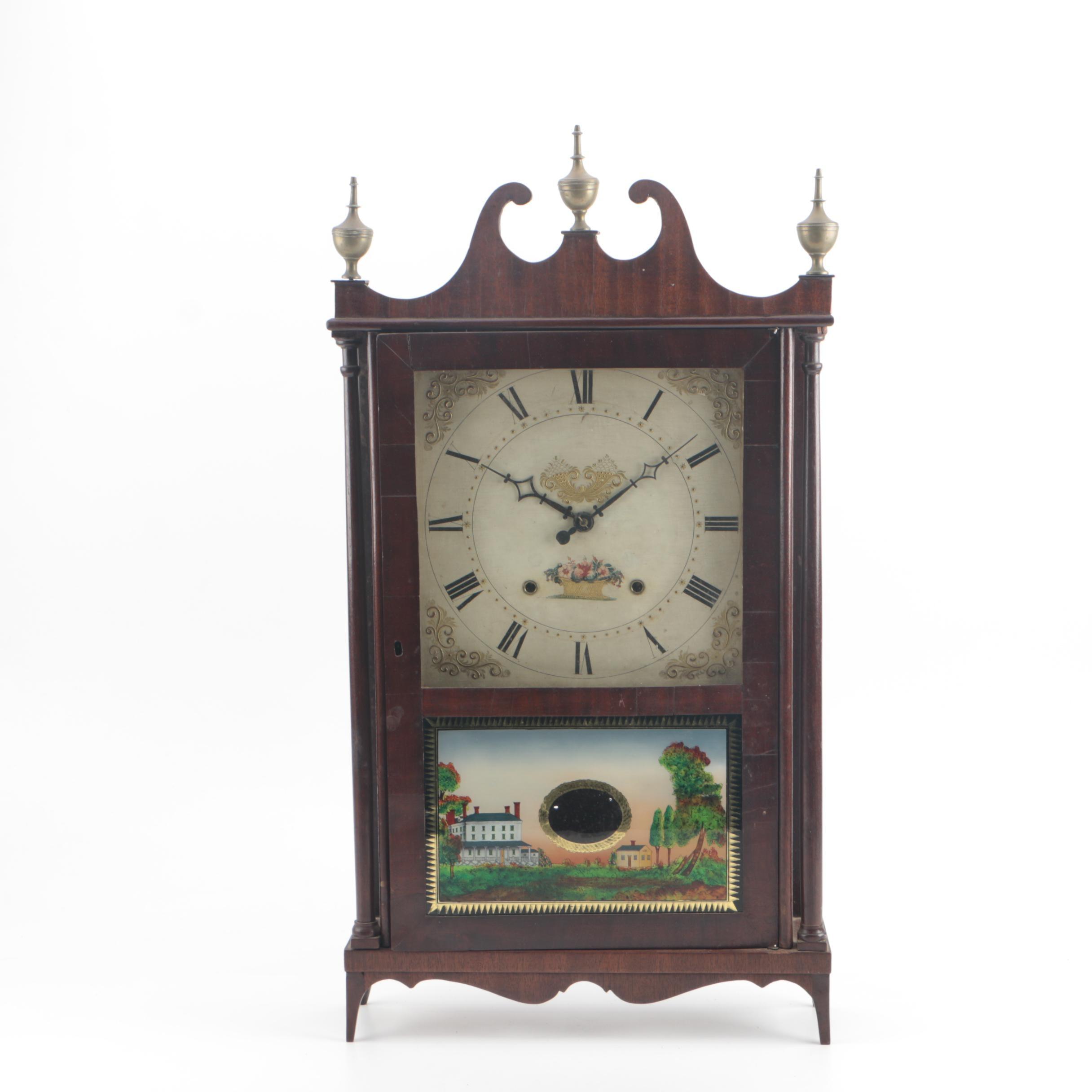 Circa 1830 Eli Terry & Sons Pillar and Scroll Clock