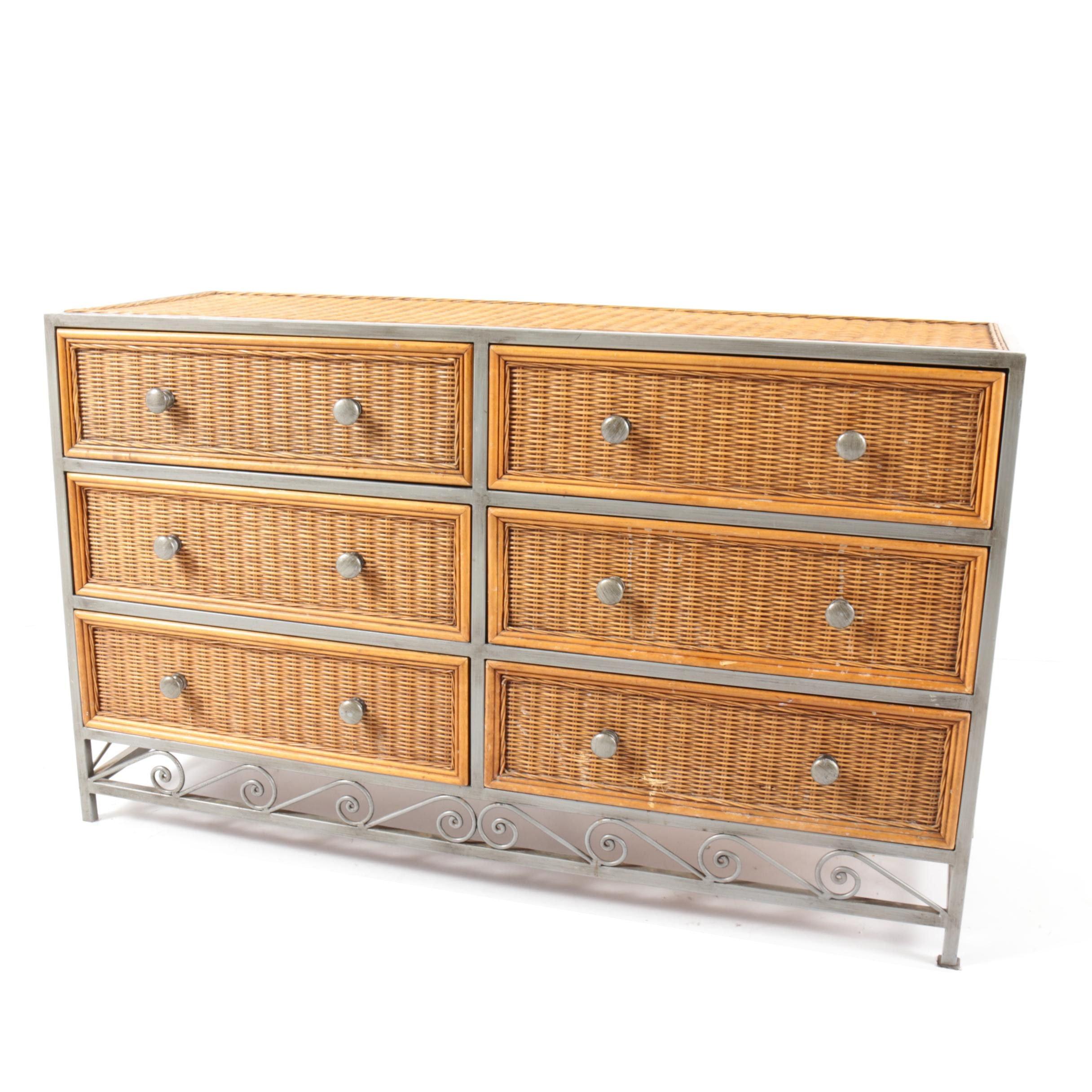 Woven Wicker Panel Dresser by Pier 1 Imports