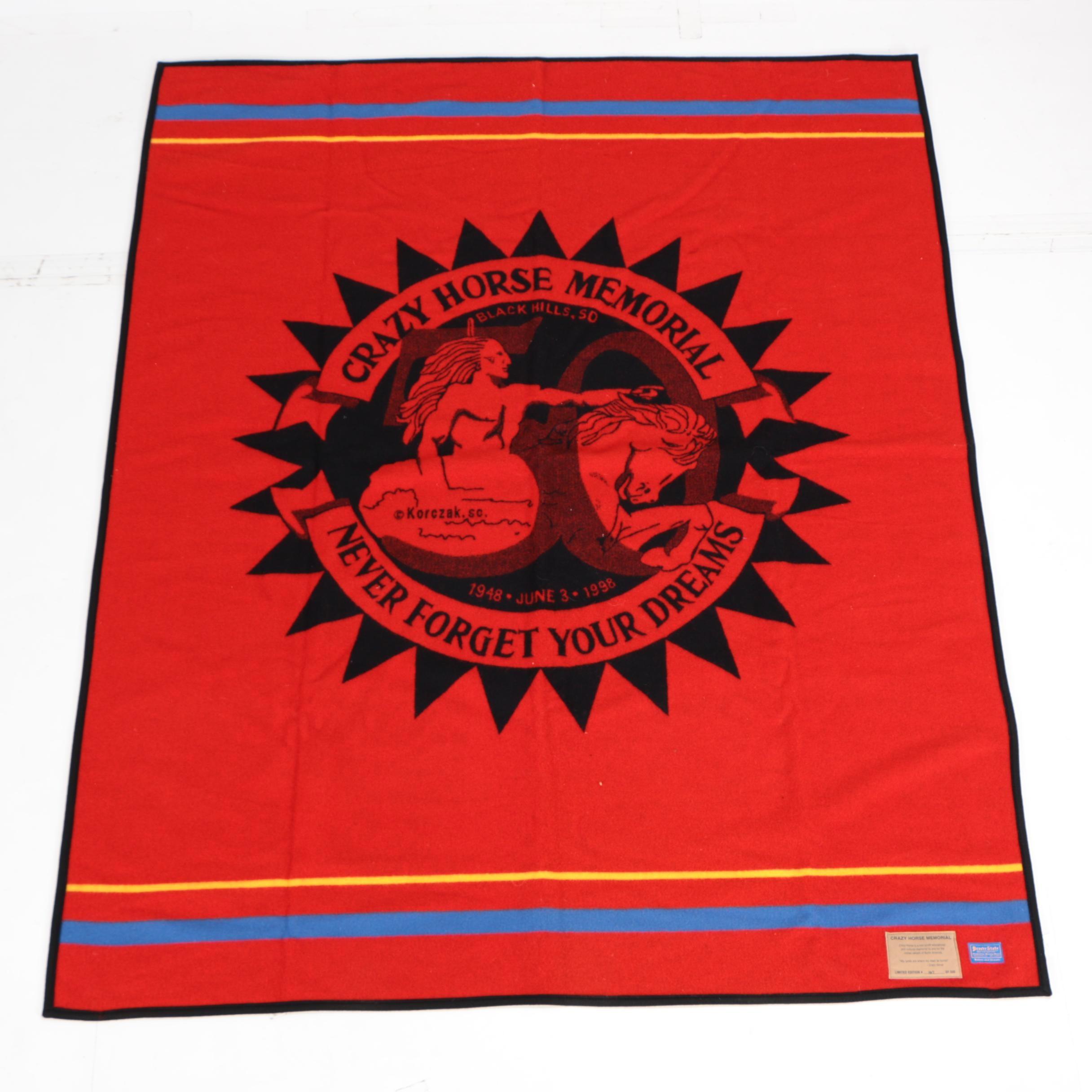 Beaver State Pendleton Woolen Mills Crazy Horse Memorial Blanket