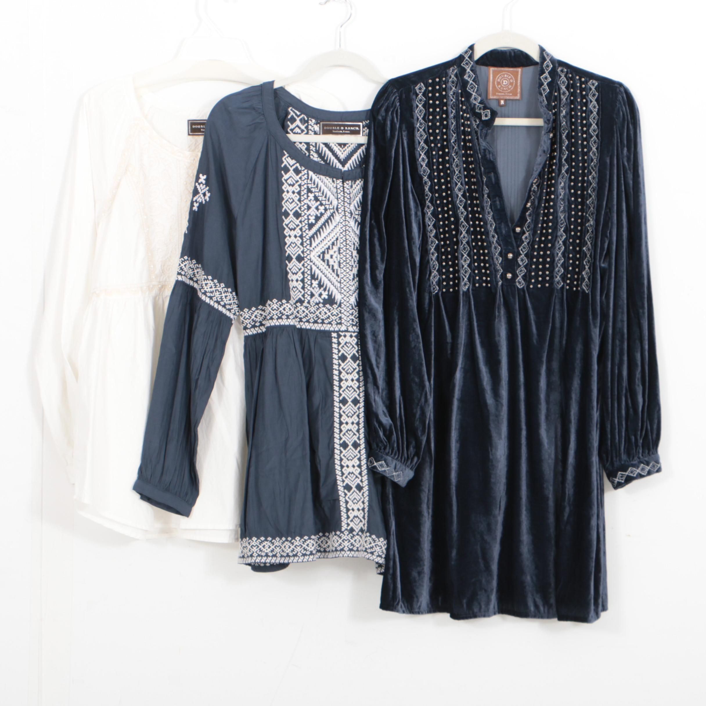 Three Double D Ranch Tunic Tops