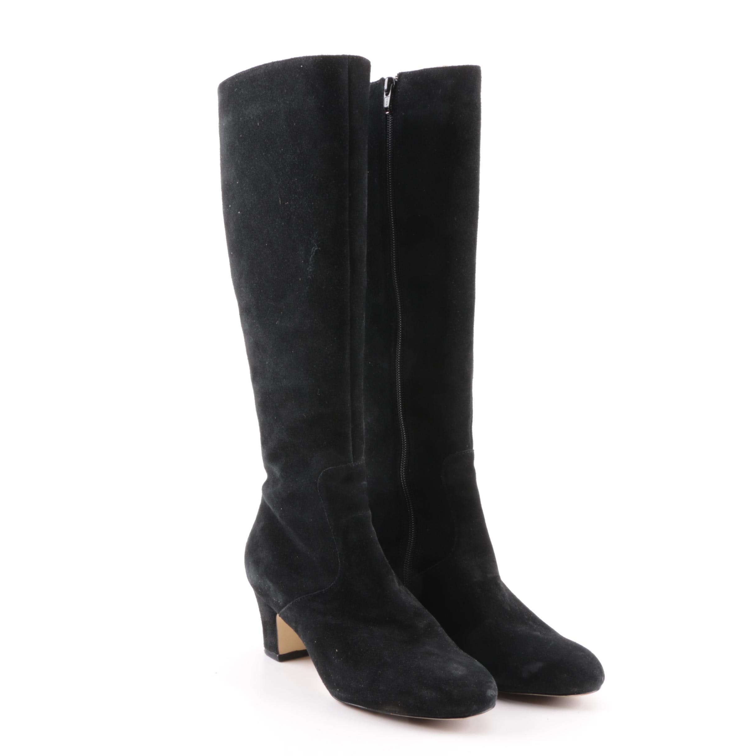 Women's Natural Comfort Black Suede Boots