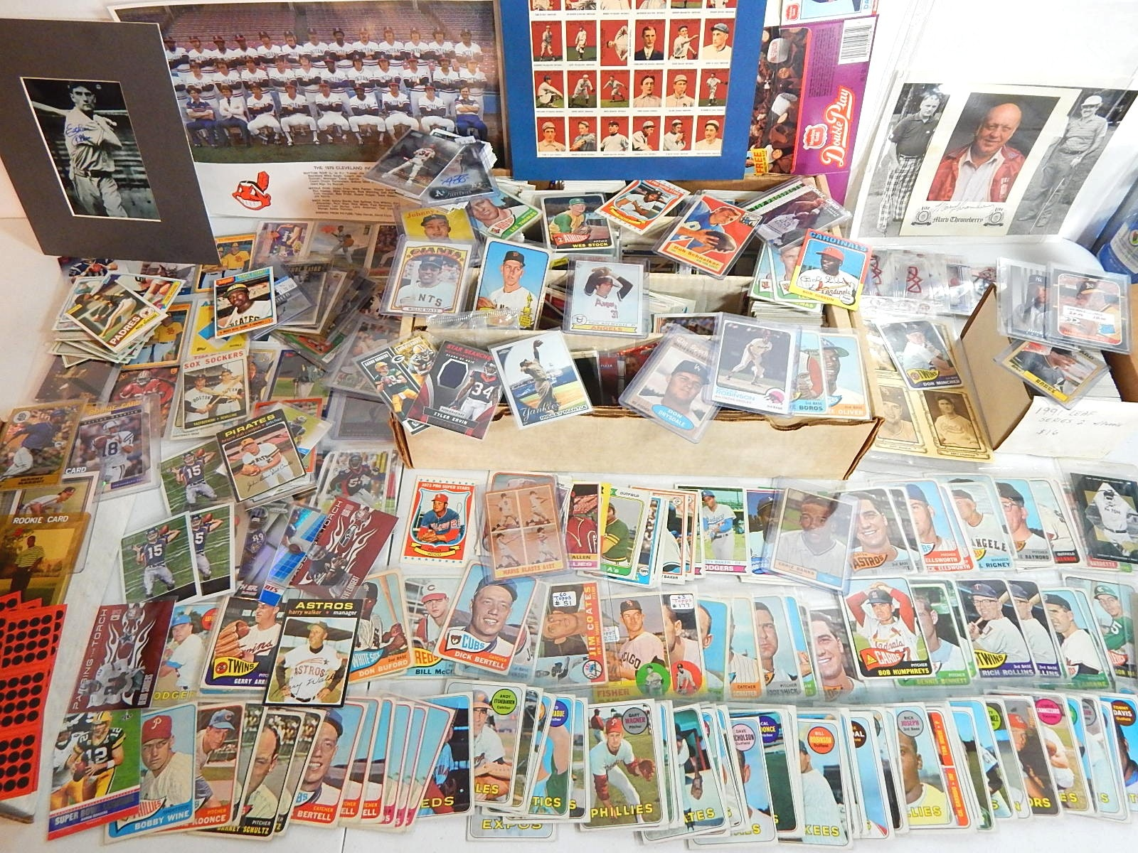 Large Sports Card Collection with Baseball, Basketball, Football-Over 2000 Cards