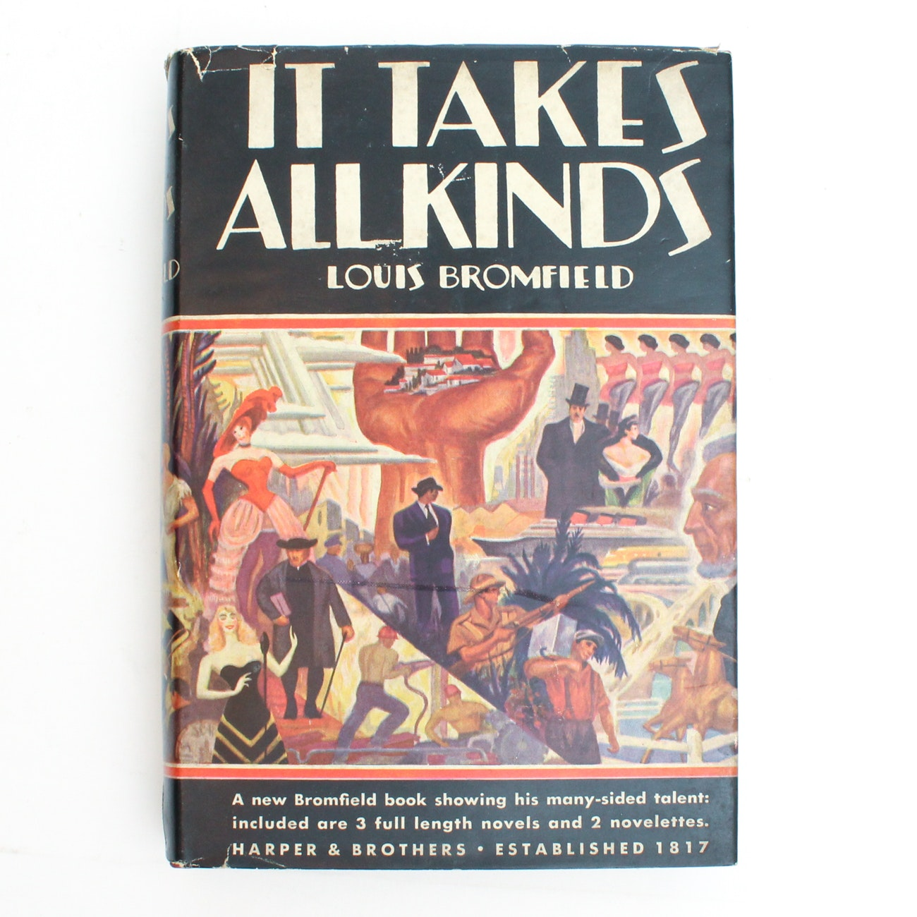 "Signed First Edition ""It Takes All Kinds"" by Louis Bromfield"
