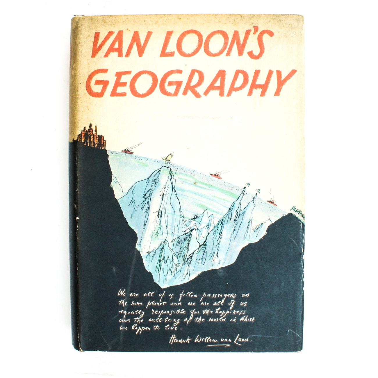 "Signed First Edition ""Van Loon's Geography"" by Hendrik Willem van Loon"