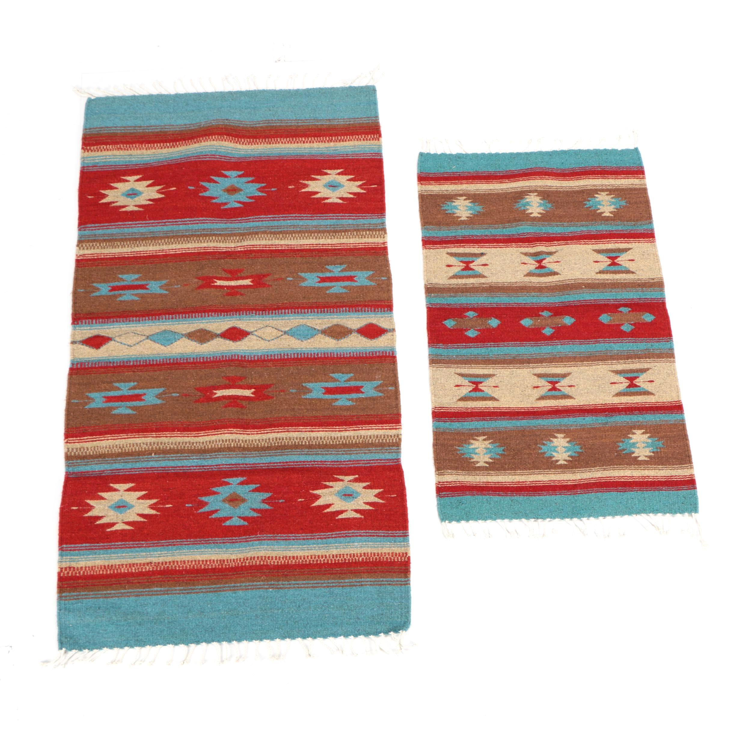 Mexican Handwoven Wool on Cotton Accent Rugs