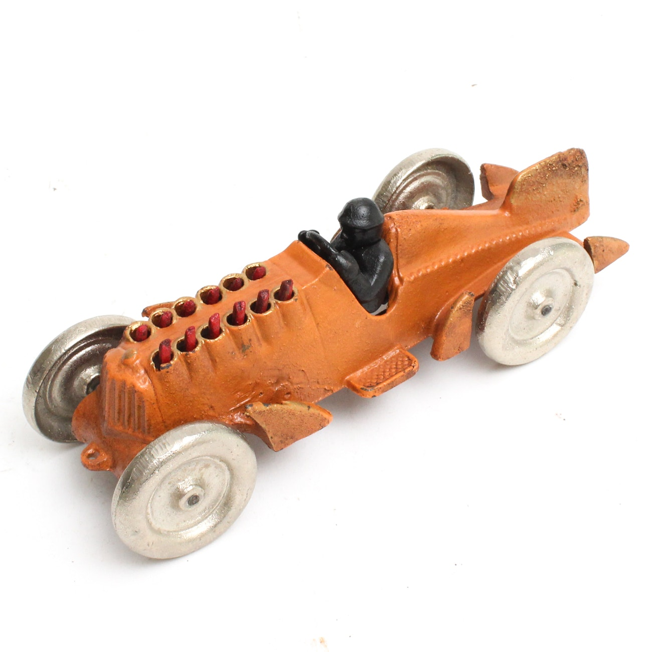 Hubley Cast Iron Race Car with Moving Pistons, Circa 1930s