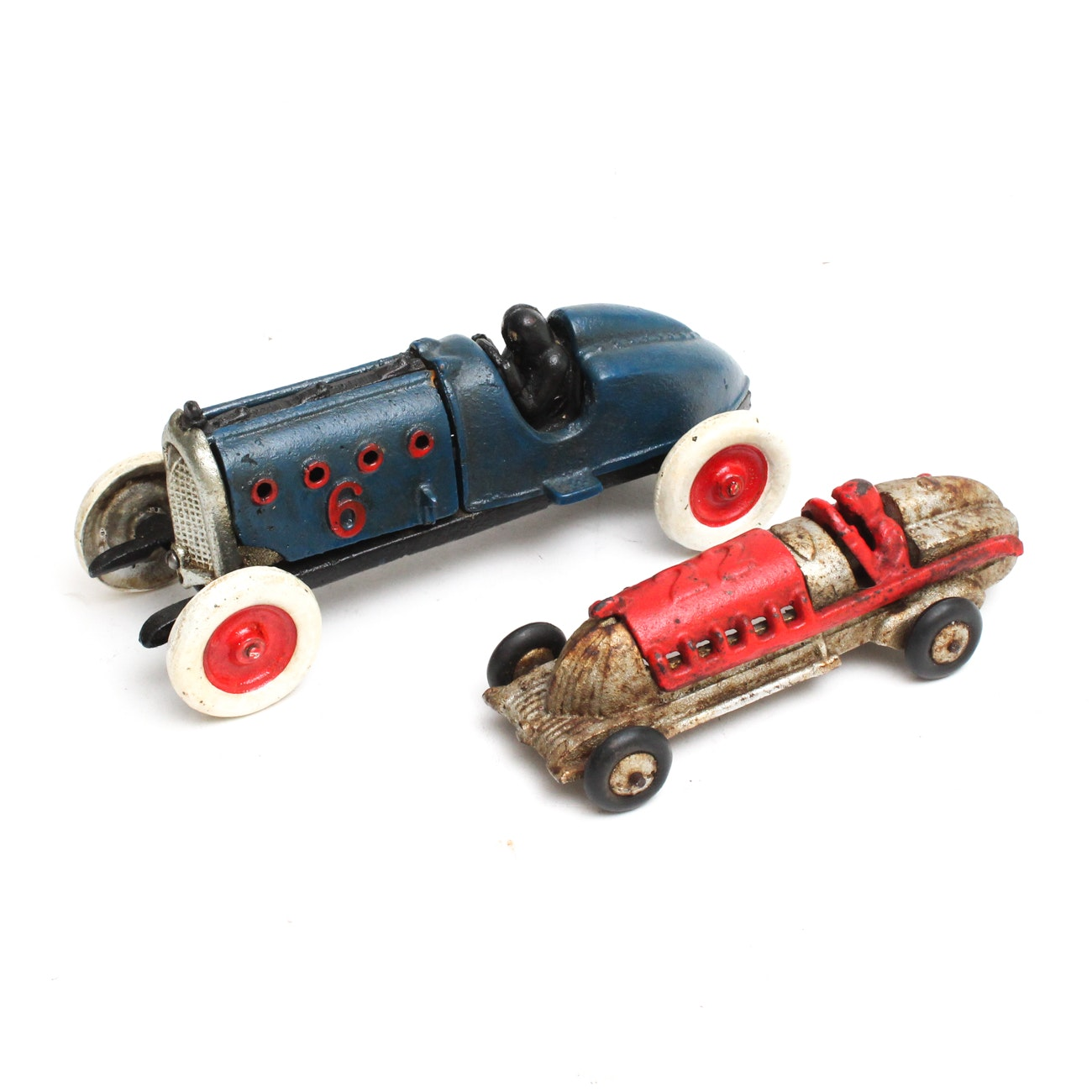 Vintage Hubley Cast Iron Race Cars