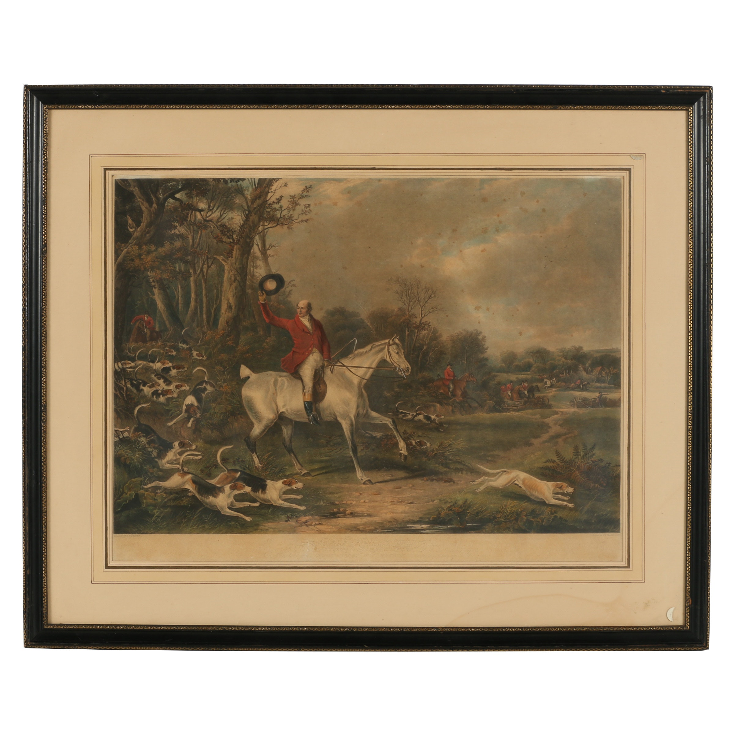 """Embellished Lithograph after William Barnard """"Charles Newman Esq."""""""