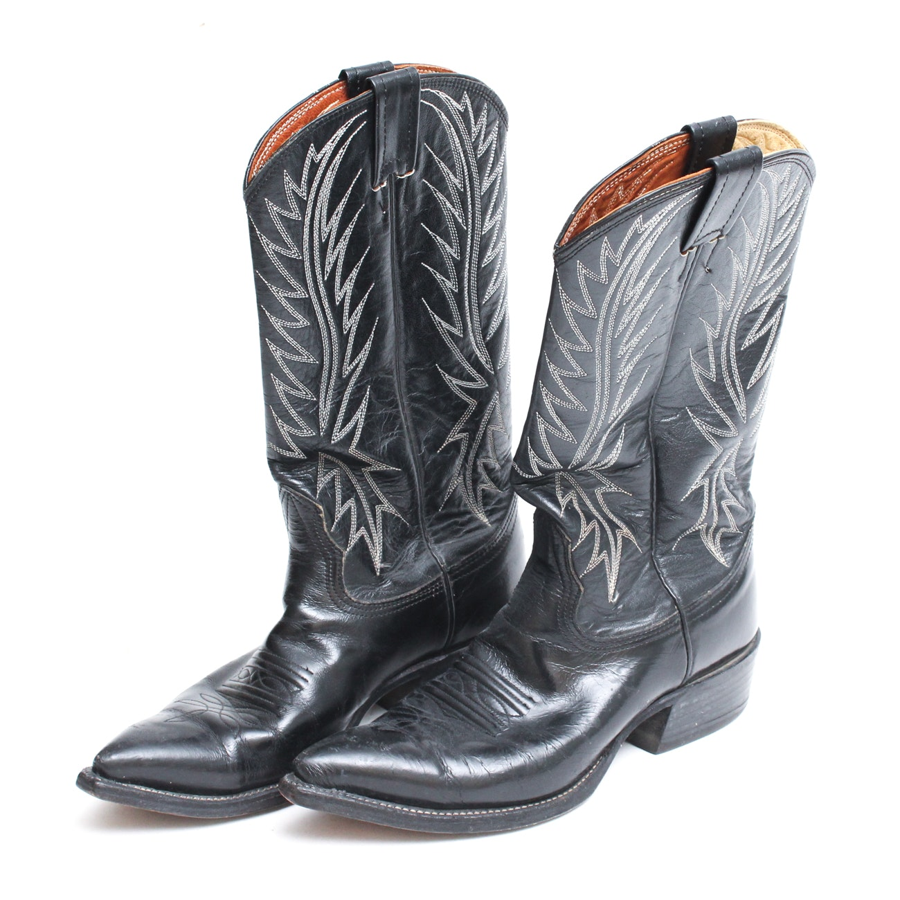 Women's Vintage Nocona Black Leather Western Boots