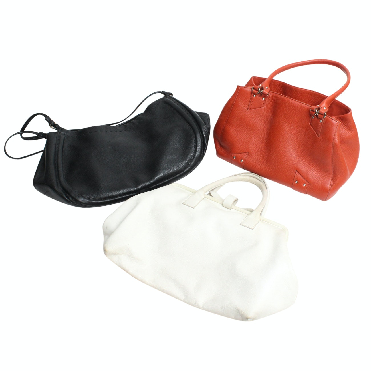 Cole Haan, Adrienne Vittadini and DKNY Leather Handbags