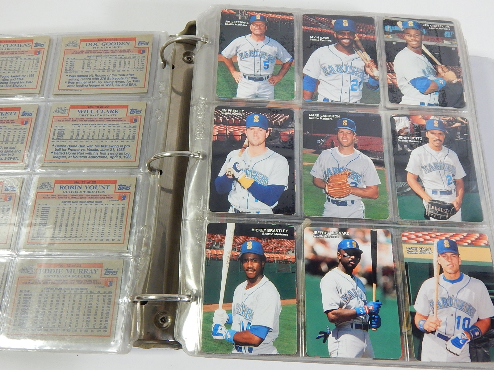 Album Full of 1980s and 1990s Baseball Card Star Insert Sets