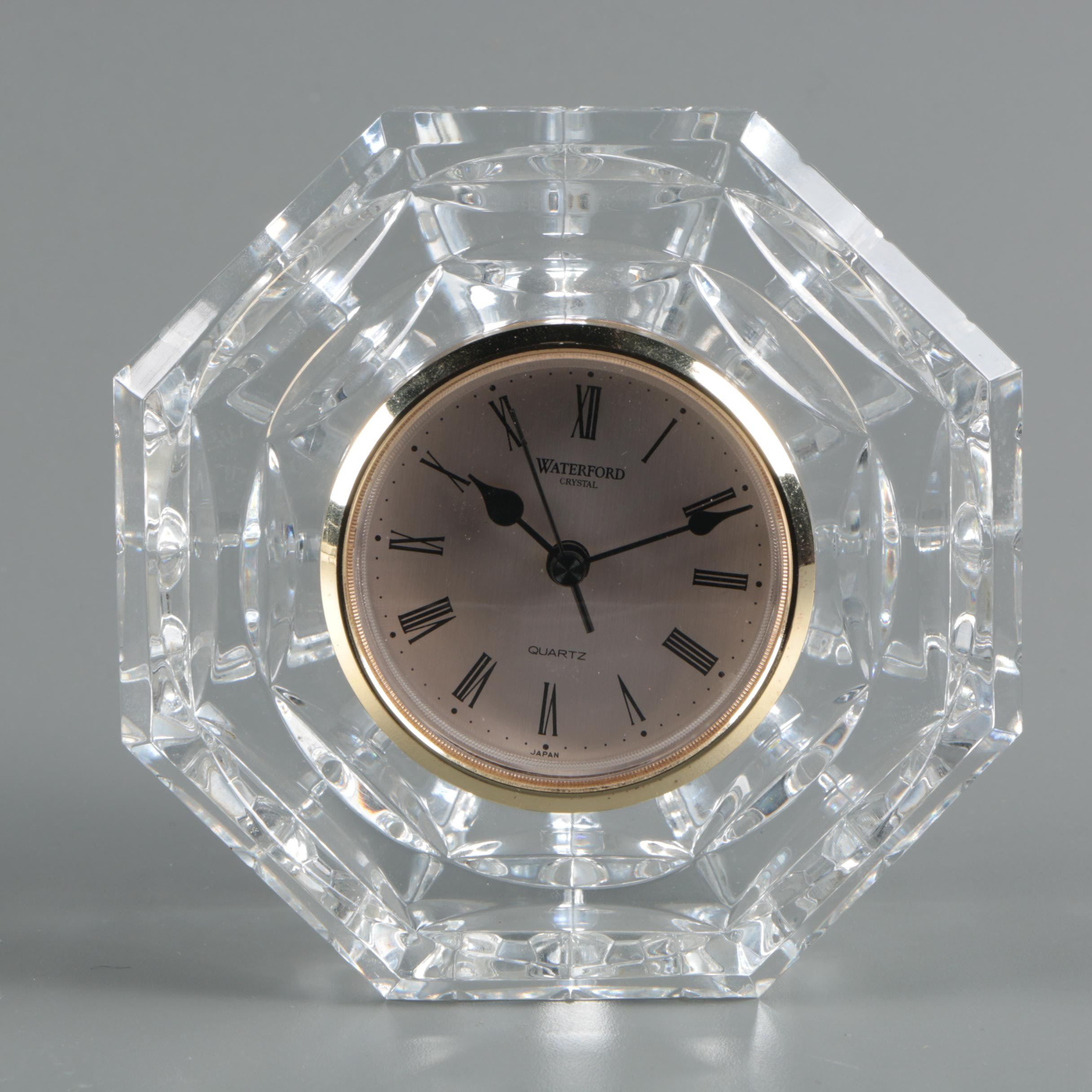 Waterford Crystal Octagonal Desk Clock