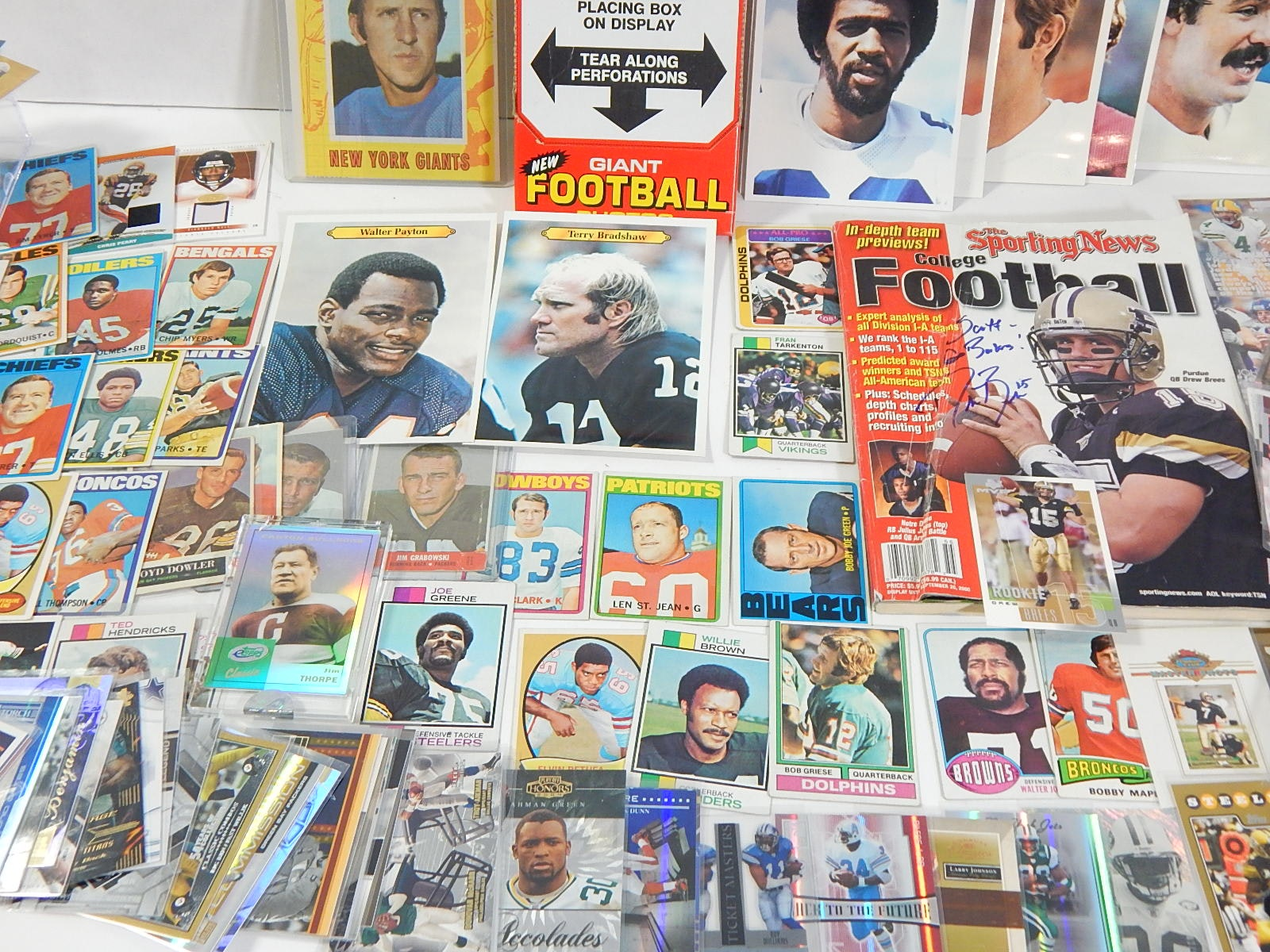 Football Card Collection with Vintage Cards, Photographs, More