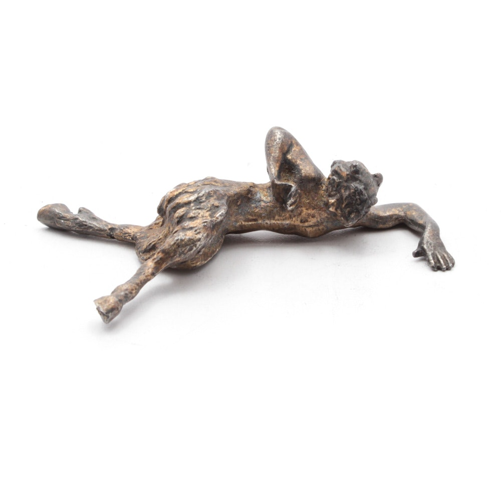 Cast Metal Satyr Paperweight