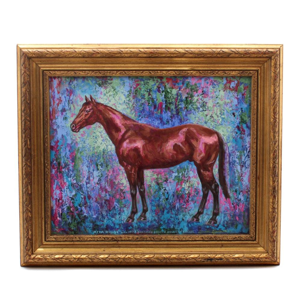 """Lucian Lupinski Oil on Canvas """"Riva Ridge"""""""