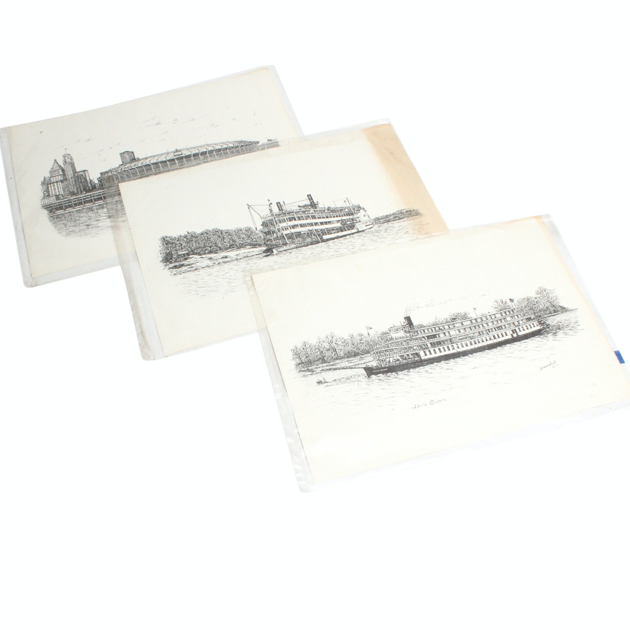 Cincinnati Landmark Lithographs after Geneva South