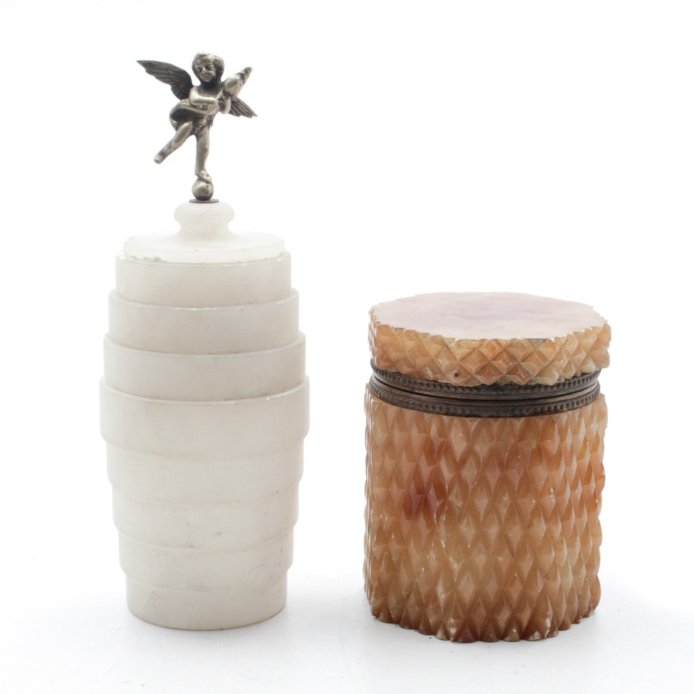 Vintage Italian Alabaster Canisters